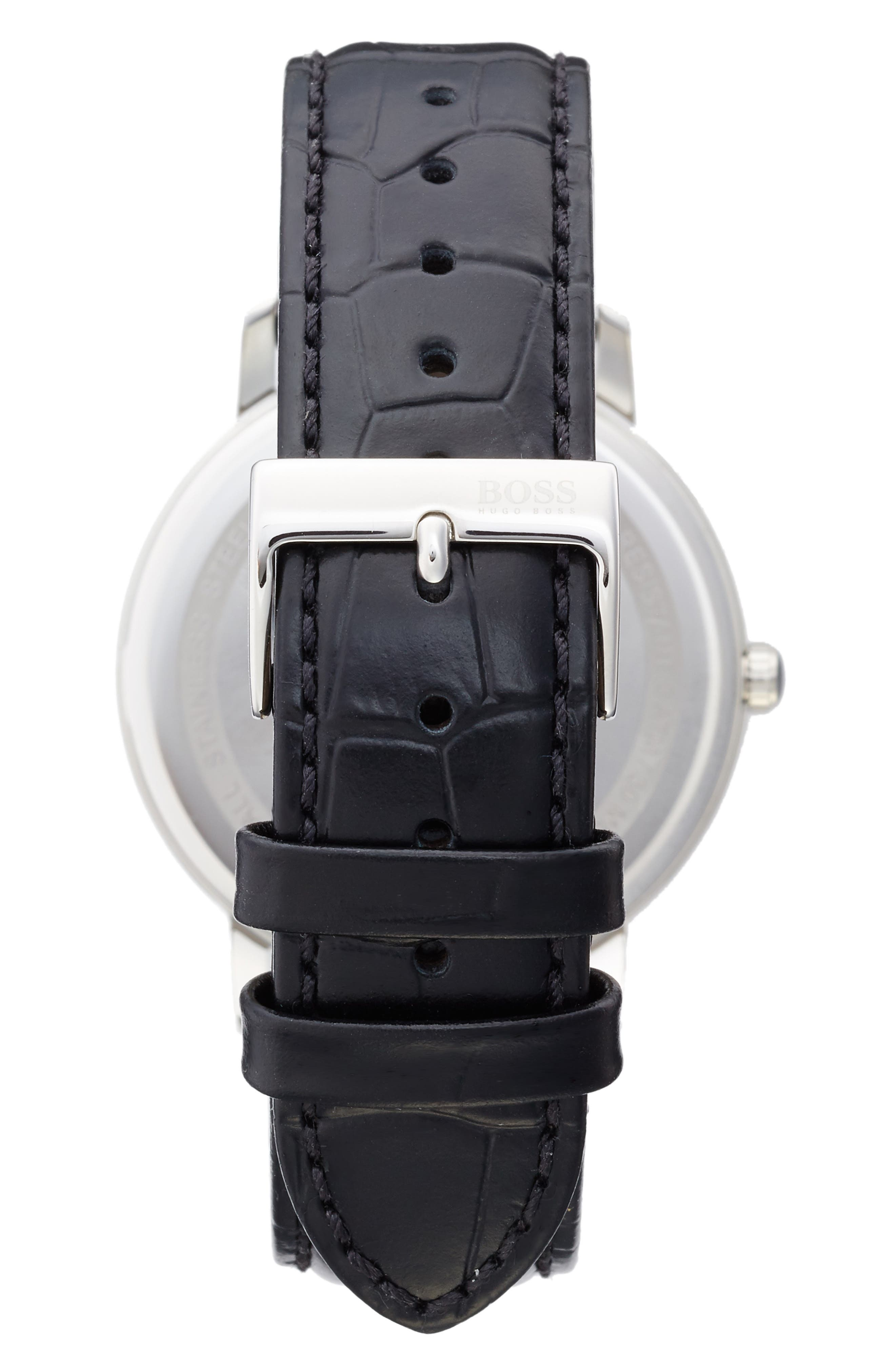 Tradition Leather Strap Watch, 40mm,                             Alternate thumbnail 2, color,                             001