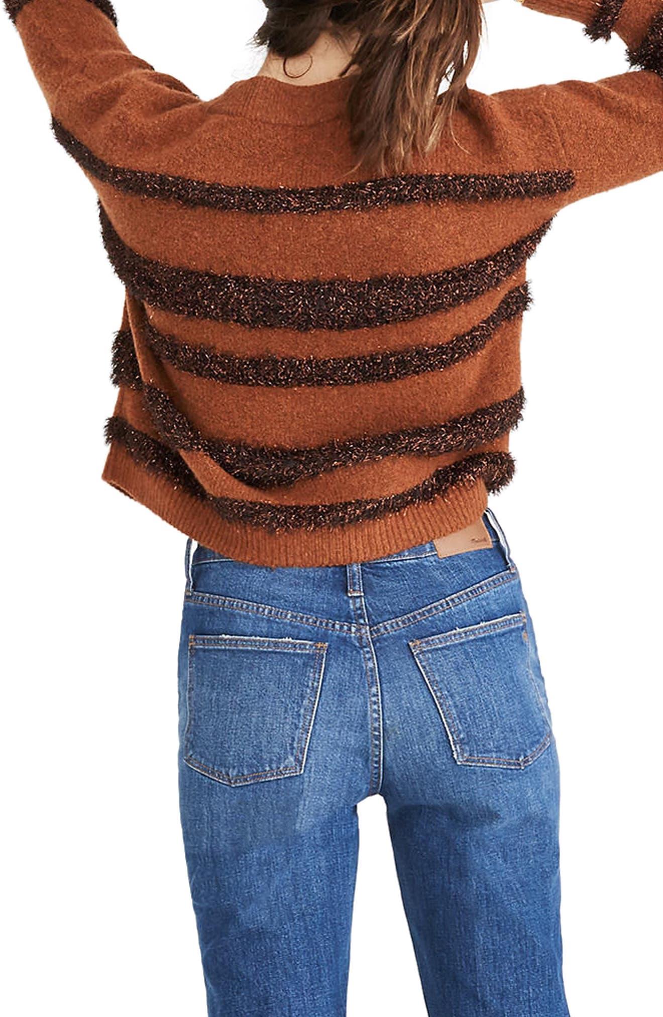 Tinsel Stripe Sweater,                             Alternate thumbnail 2, color,                             200