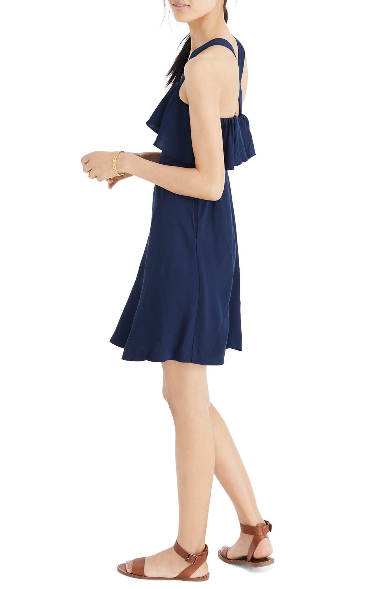 Apron Ruffle Dress,                             Alternate thumbnail 3, color,                             400