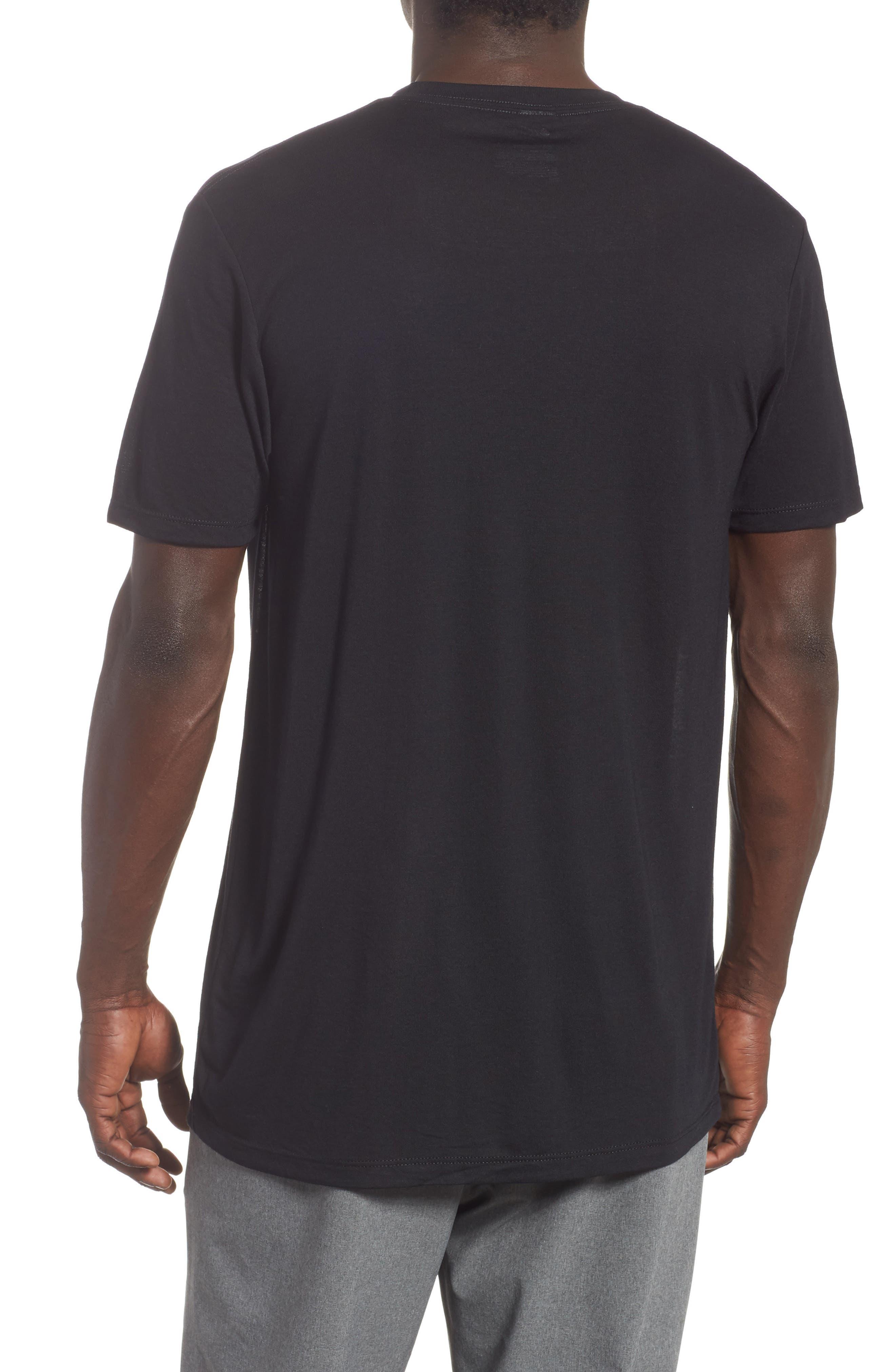 Active Crewneck T-Shirt,                             Alternate thumbnail 2, color,                             BLACK