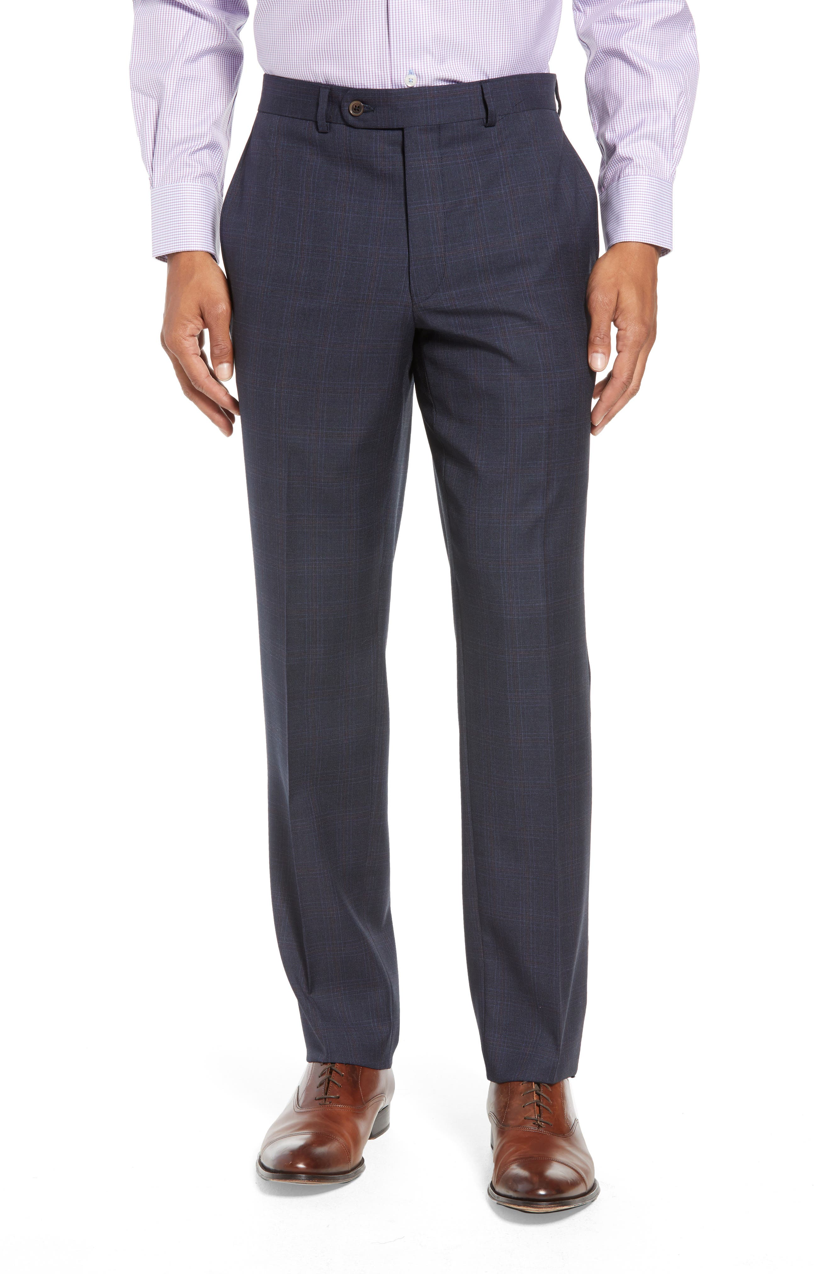 Ryan Classic Fit Plaid Wool Suit,                             Alternate thumbnail 6, color,                             NAVY