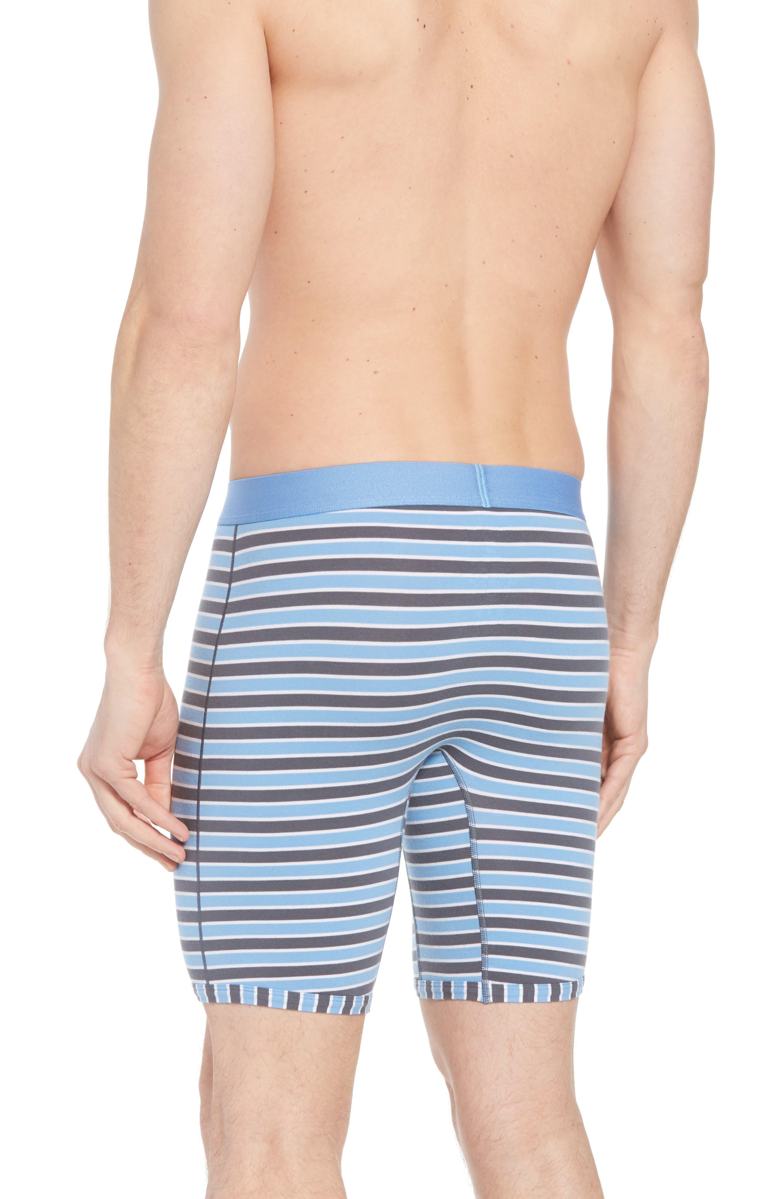 Team Stripe Boxer Briefs,                             Alternate thumbnail 2, color,                             IRON GREY/ WHITE/ MIRAGE BLUE