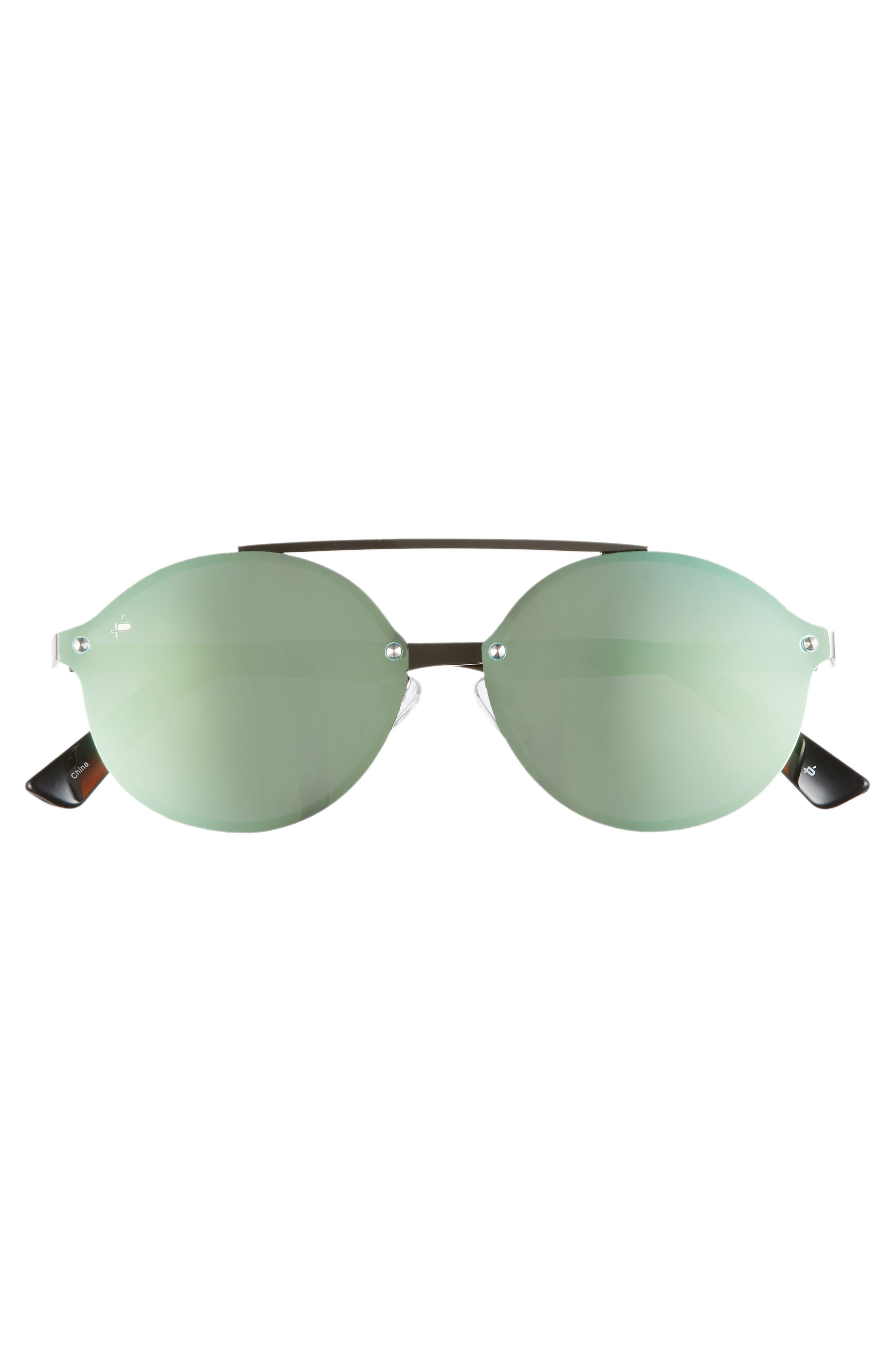 Privé Revaux The Orient 58mm Sunglasses,                             Alternate thumbnail 3, color,                             DARK BLUE MIRROR