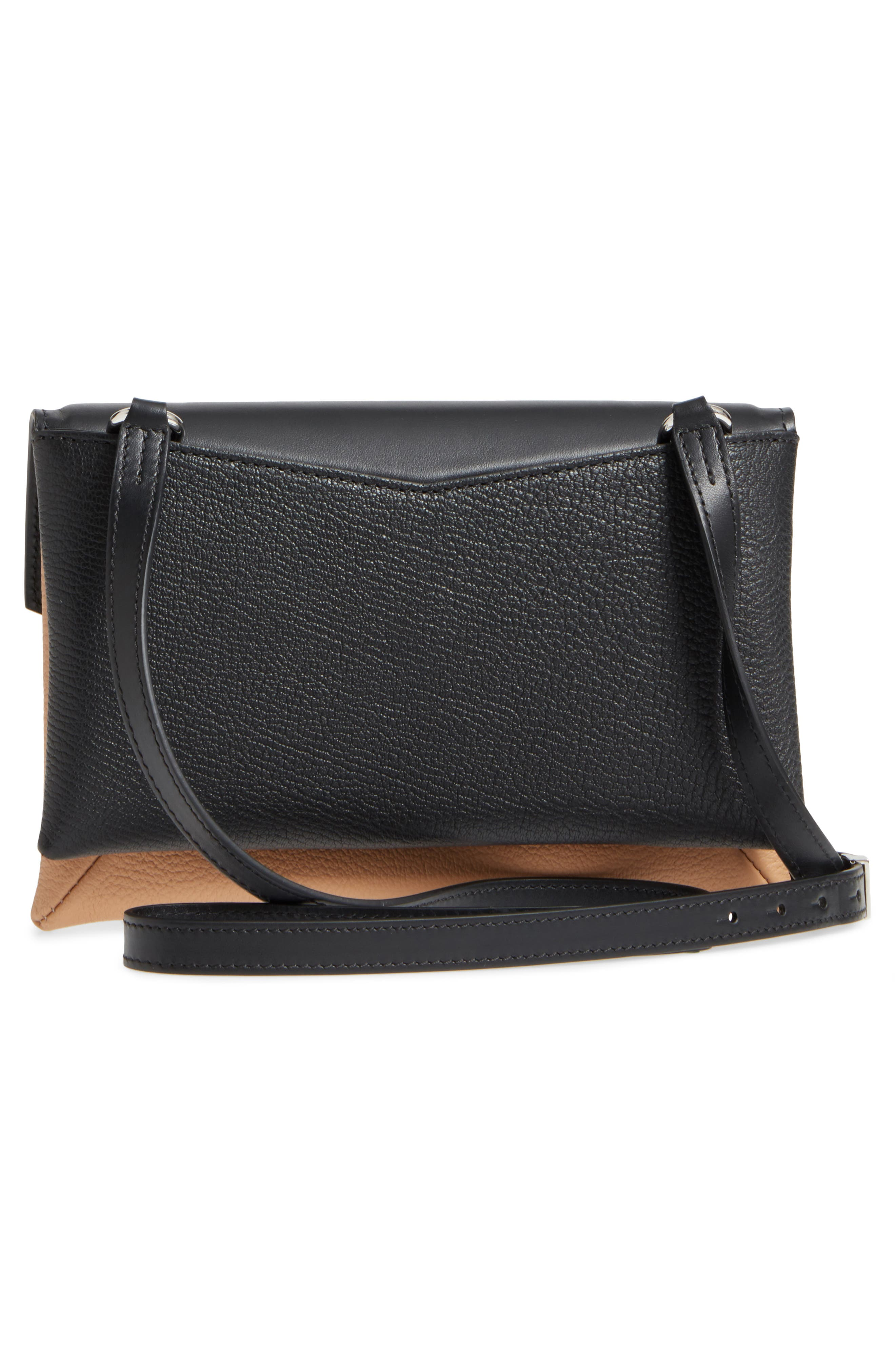 Duetto Tricolor Leather Flap Crossbody Bag,                             Alternate thumbnail 3, color,                             270