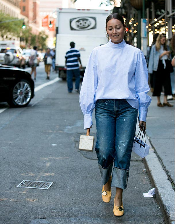 Blue jean baby: fashion stylist Rachael Wang.