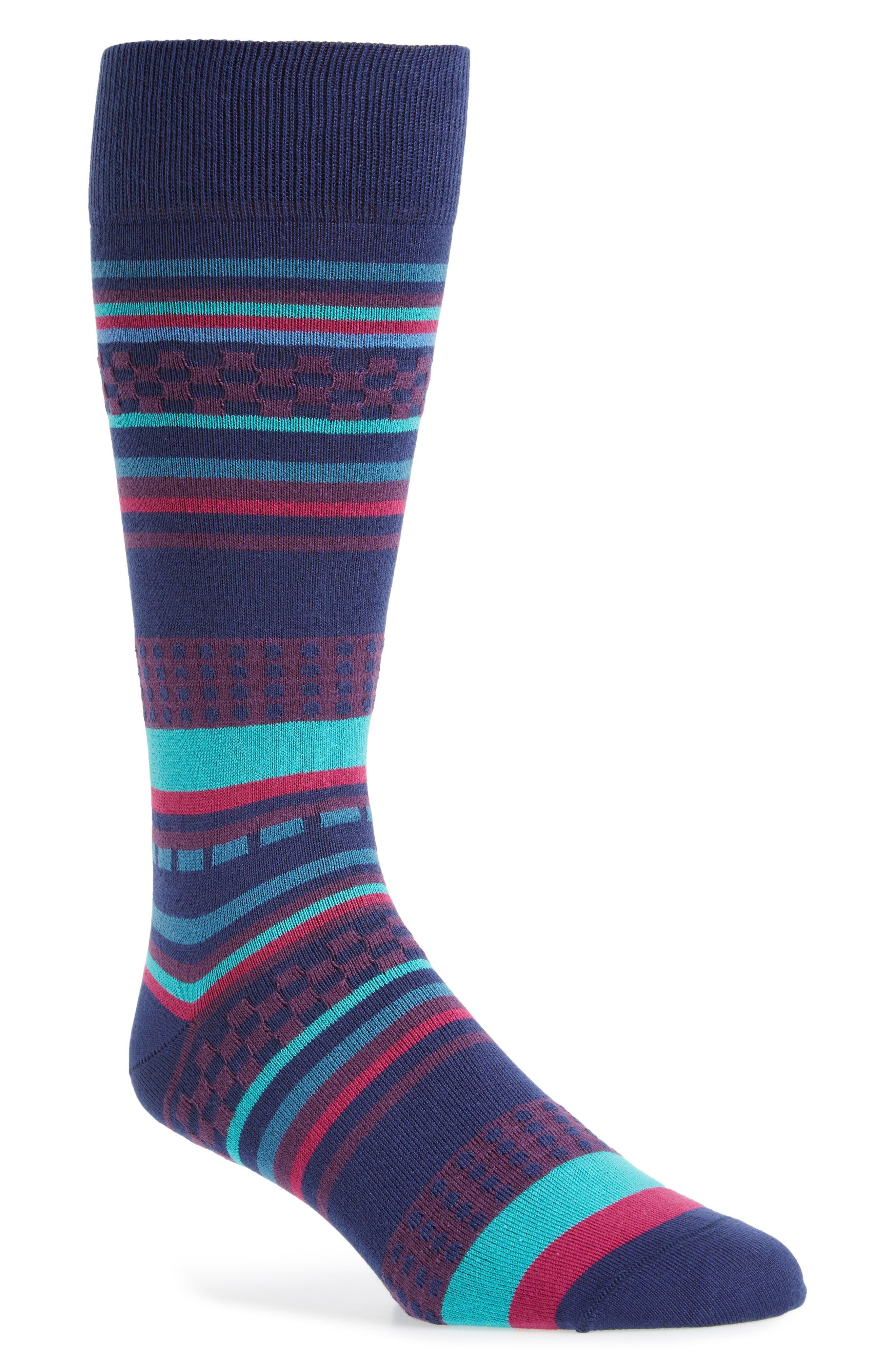 Jiggle Stripe Socks,                             Main thumbnail 2, color,