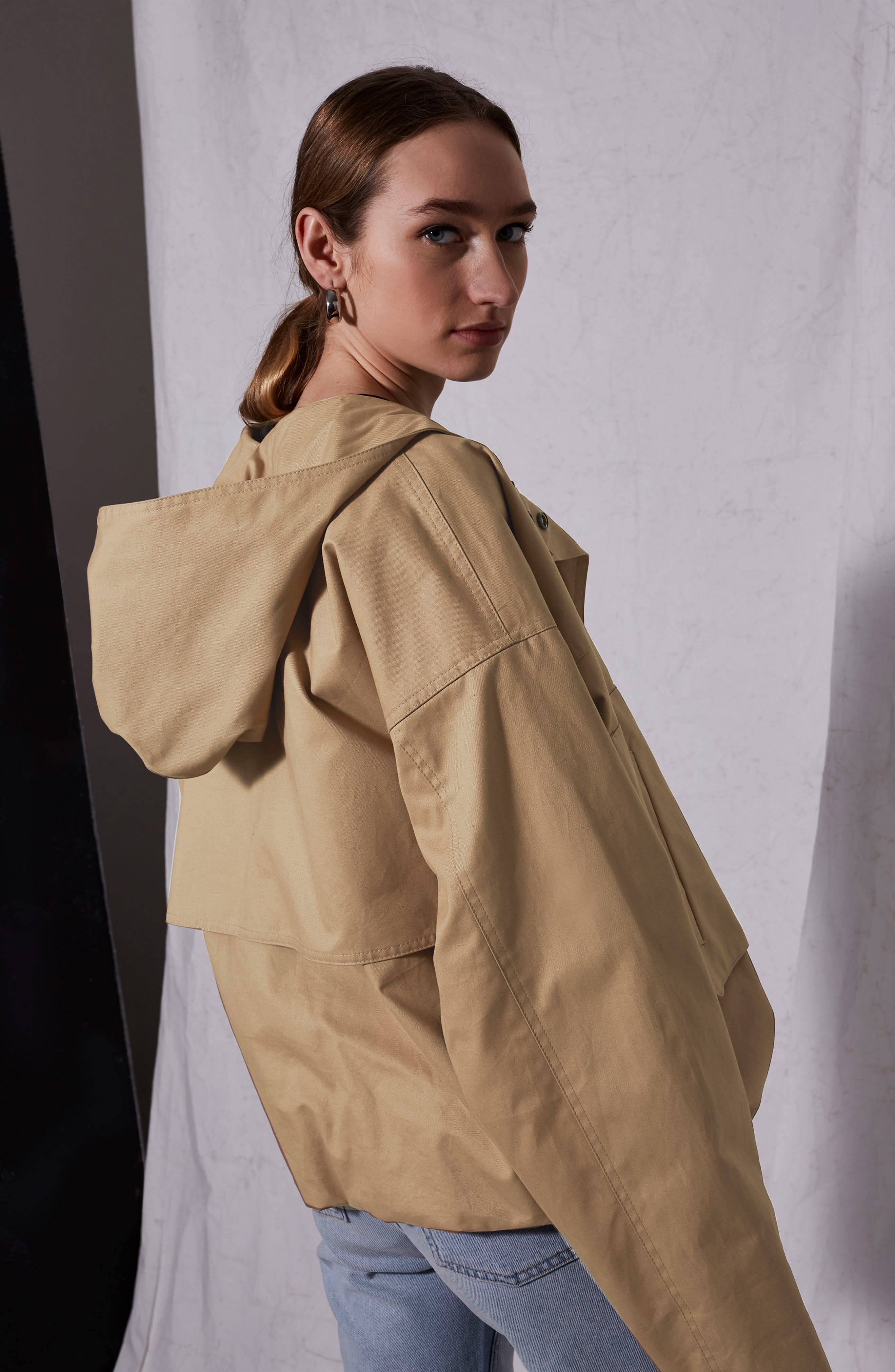 Cropped Parka,                             Alternate thumbnail 6, color,                             250