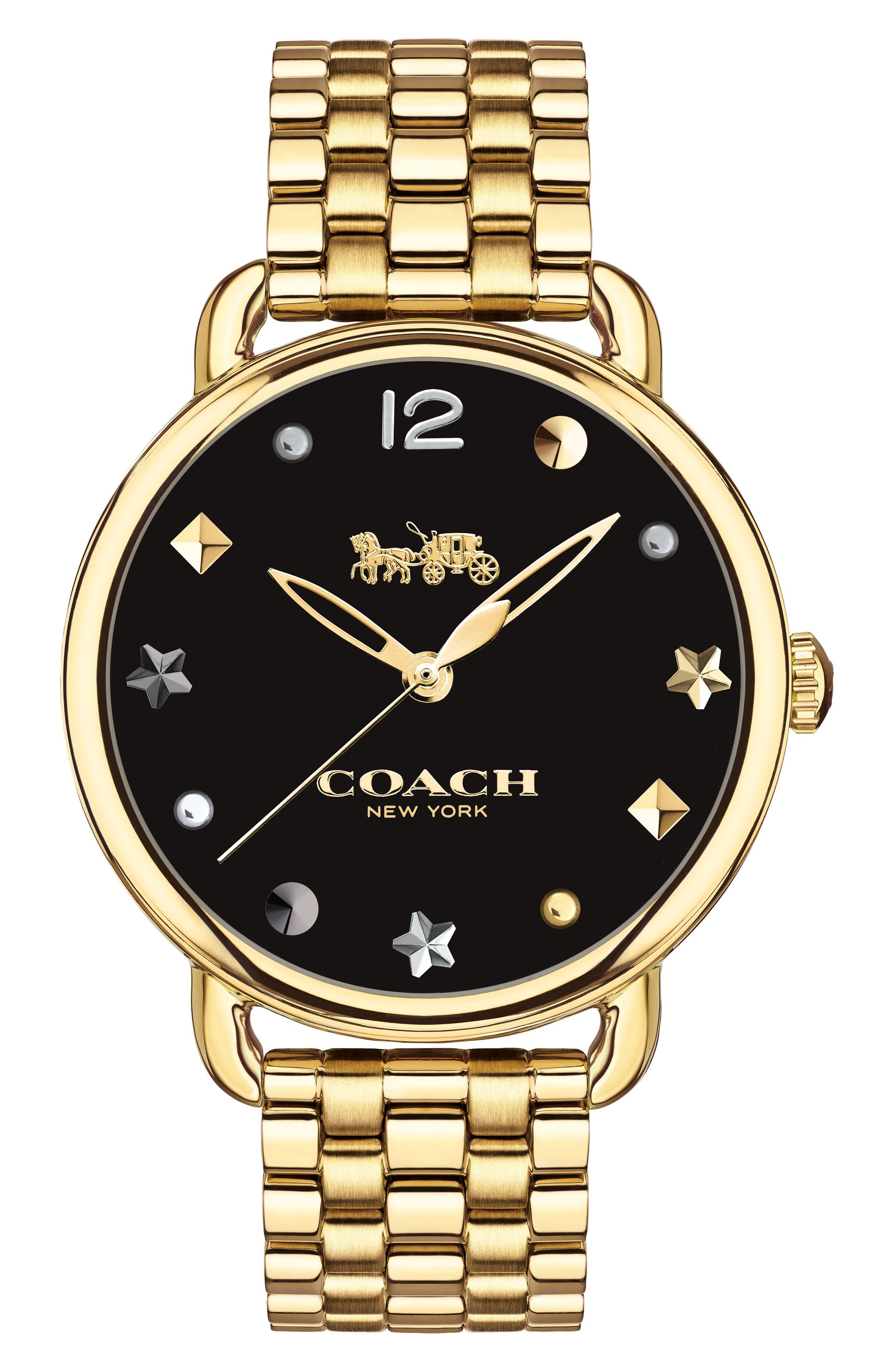 Delancey Bracelet Watch, 36mm,                             Main thumbnail 1, color,                             GOLD/ BLACK/ GOLD