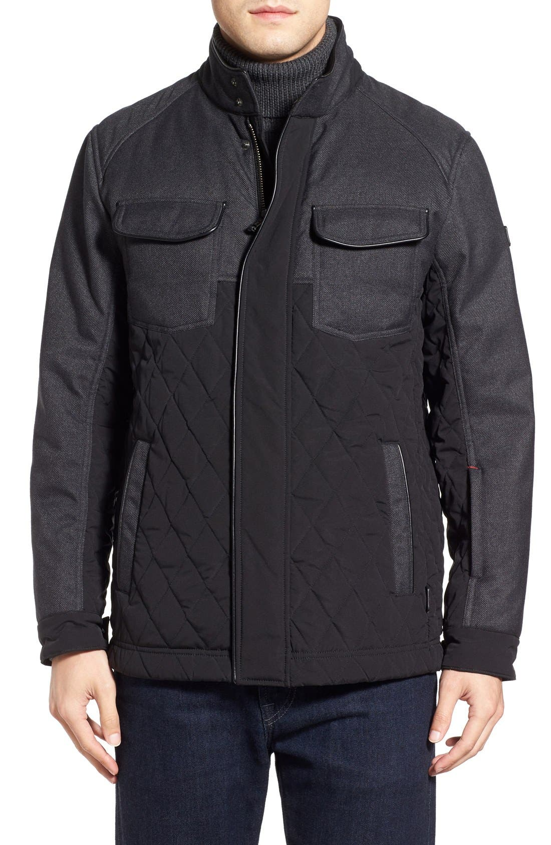 'Heritage' Quilted Jacket, Main, color, 001