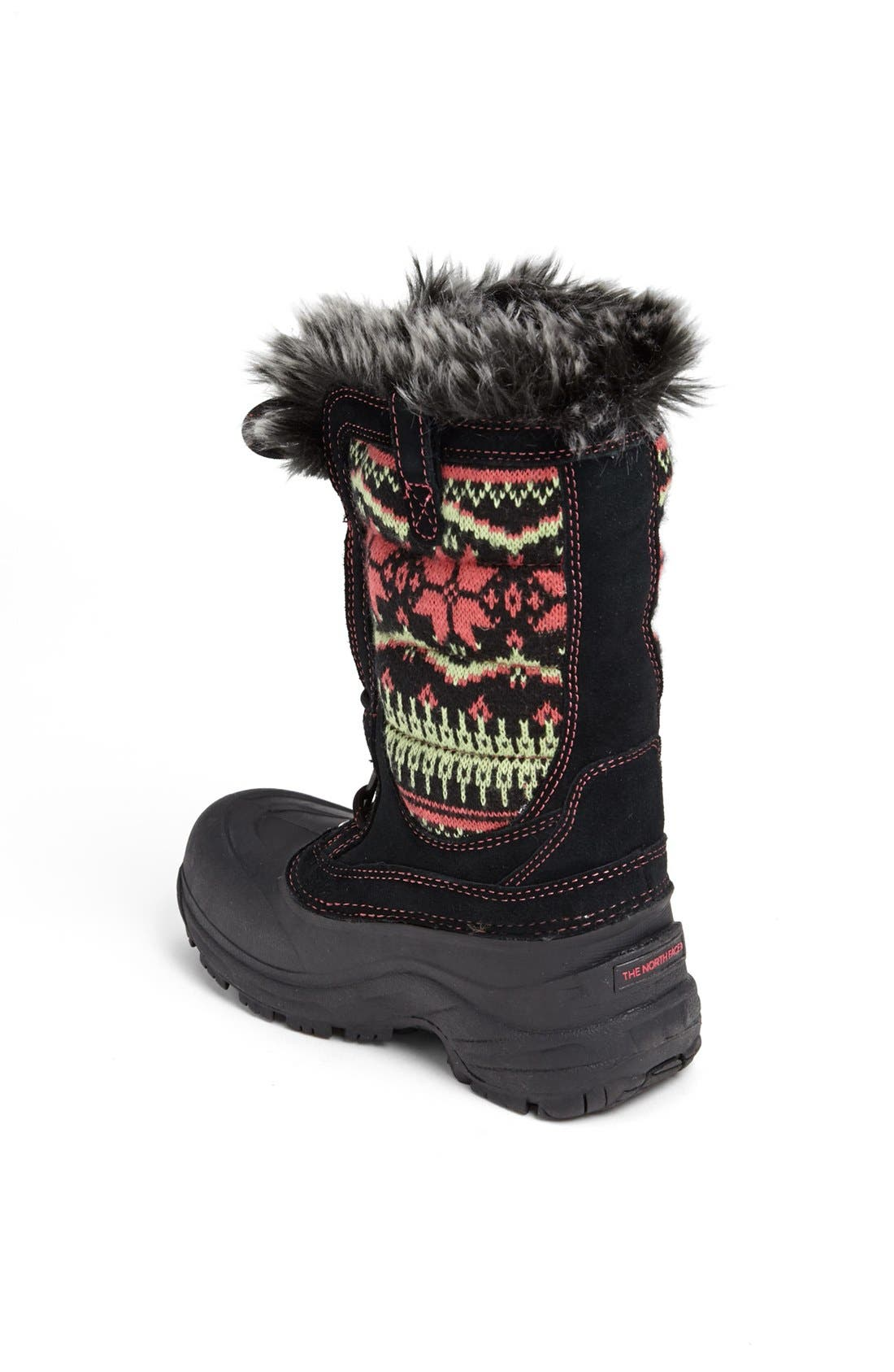 'Shellista' Lace Up Snow Boot,                             Alternate thumbnail 3, color,                             001