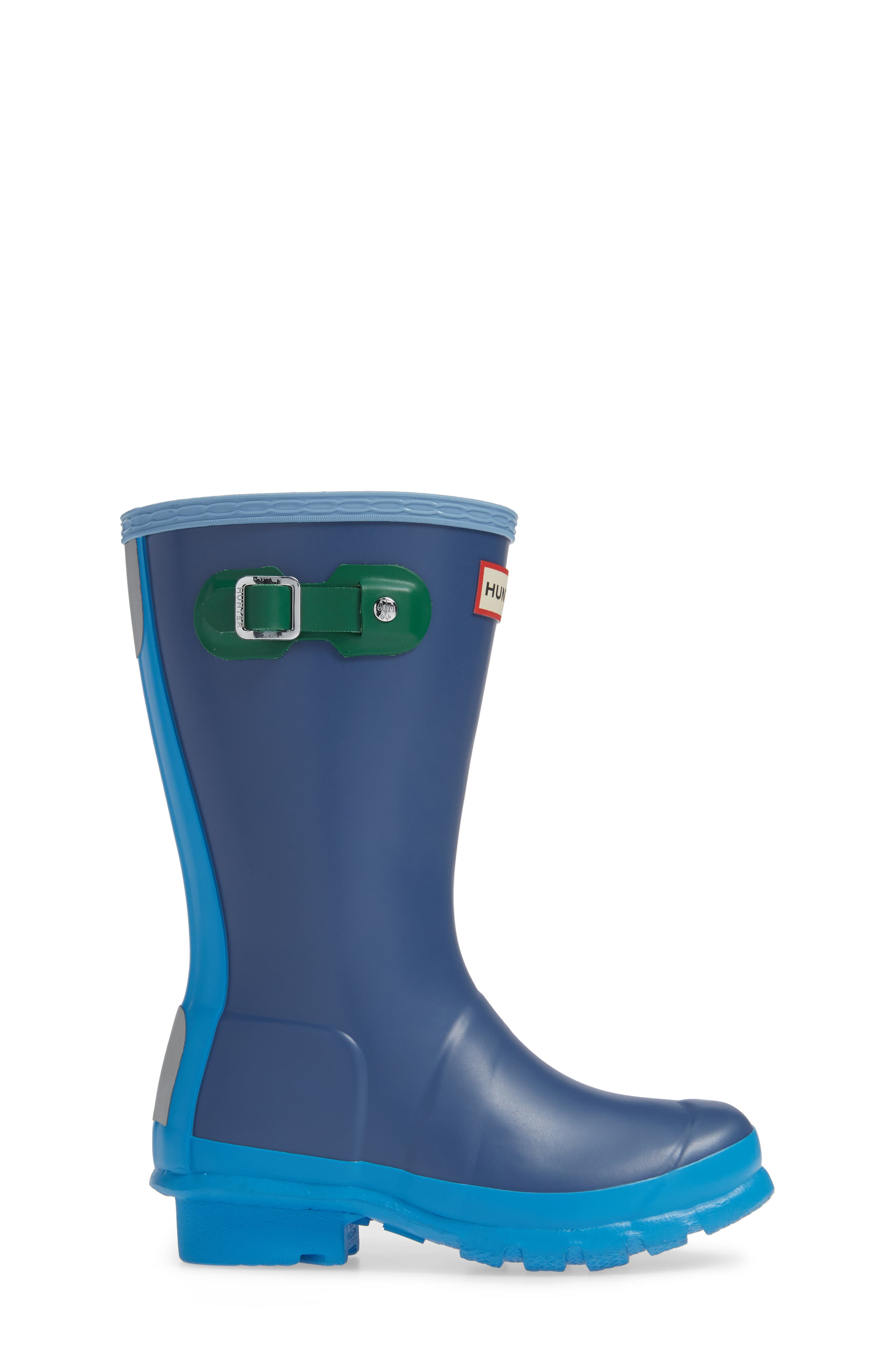Original Colorblock Rain Boot,                             Alternate thumbnail 3, color,                             PEAK BLUE COLORBLOCK