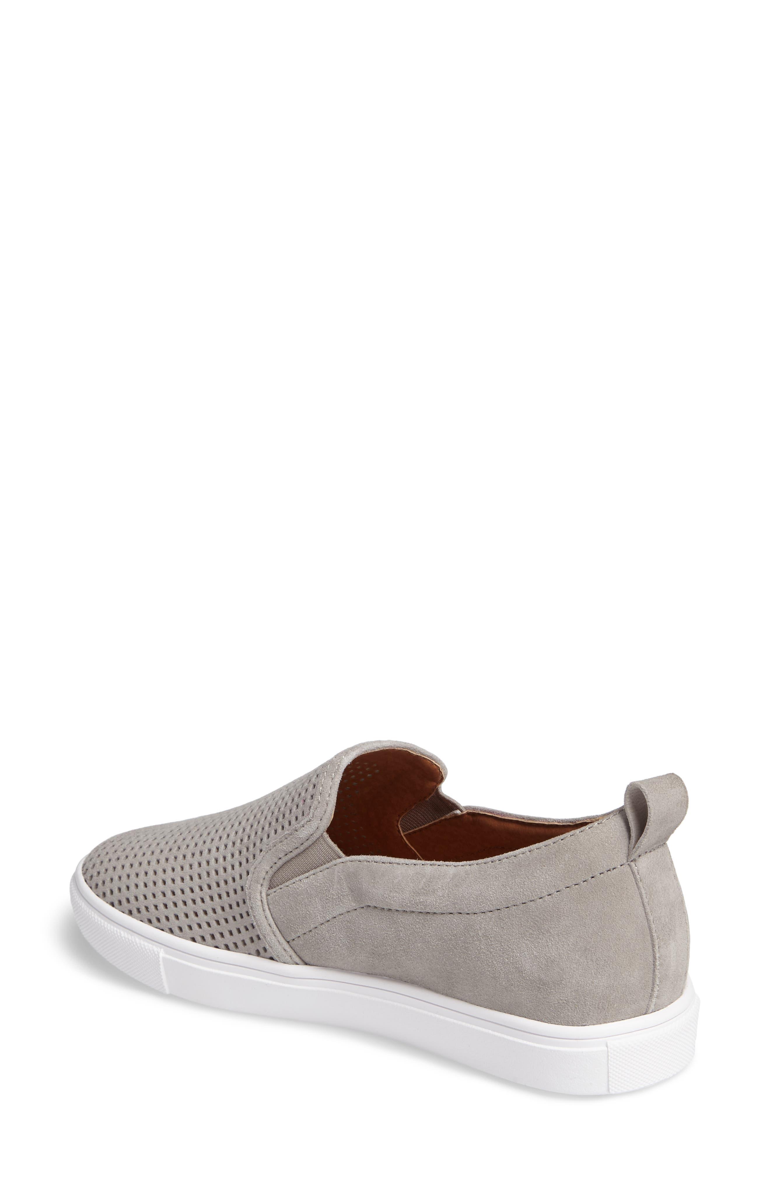 Eden Perforated Slip-On Sneaker,                             Alternate thumbnail 6, color,