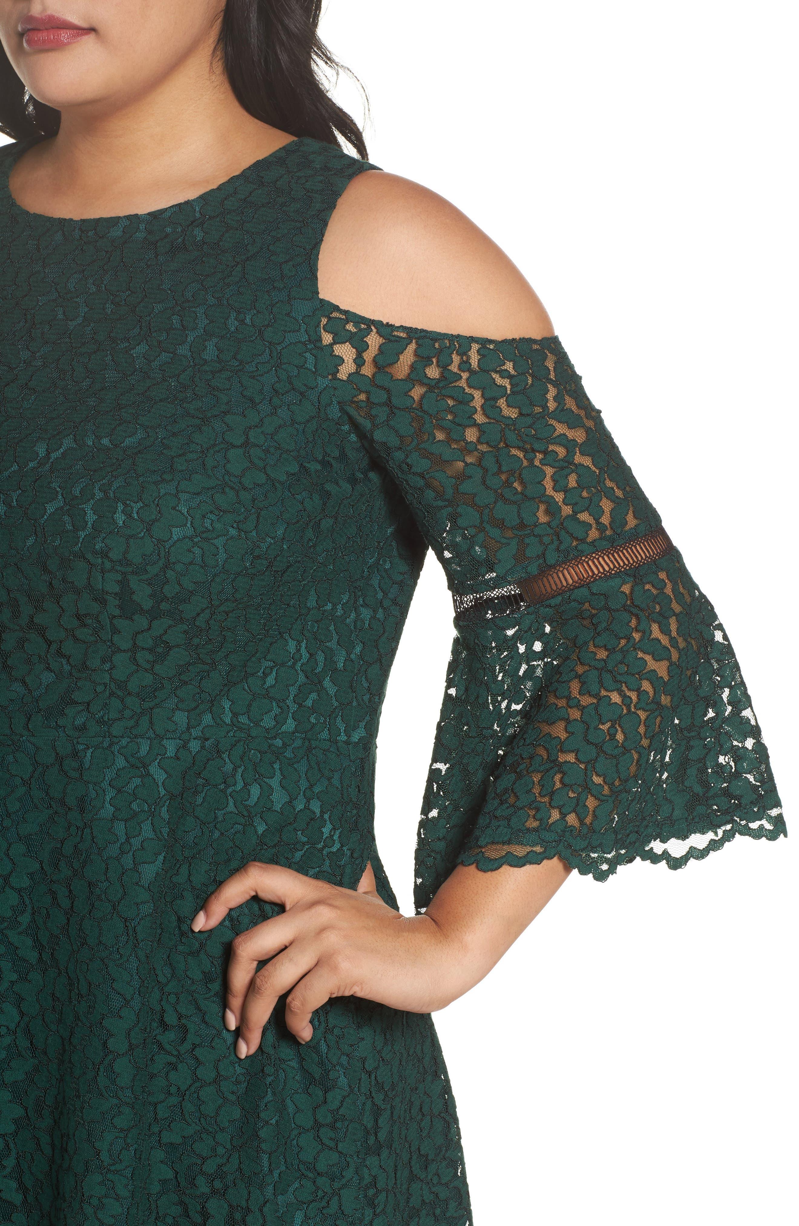 Cold Shoulder Lace Dress,                             Alternate thumbnail 4, color,                             310