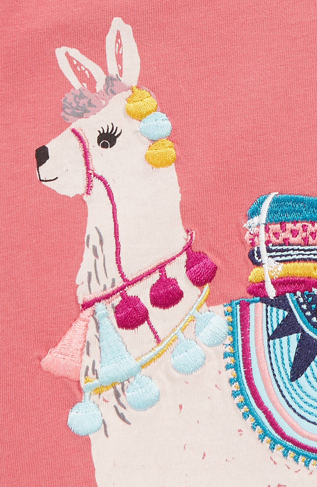 Llama Embroidered Tee,                             Alternate thumbnail 2, color,                             PINK