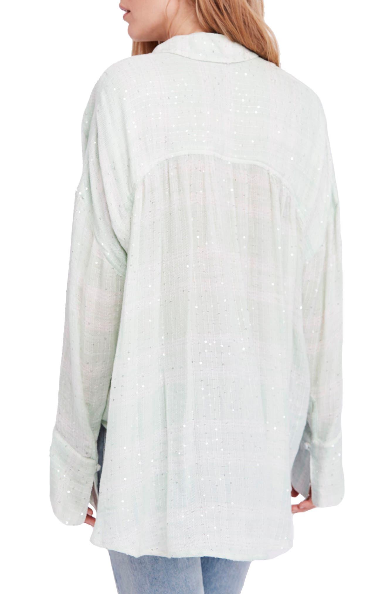 Fearless Love Bell Sleeve Shirt,                             Alternate thumbnail 2, color,                             MINT