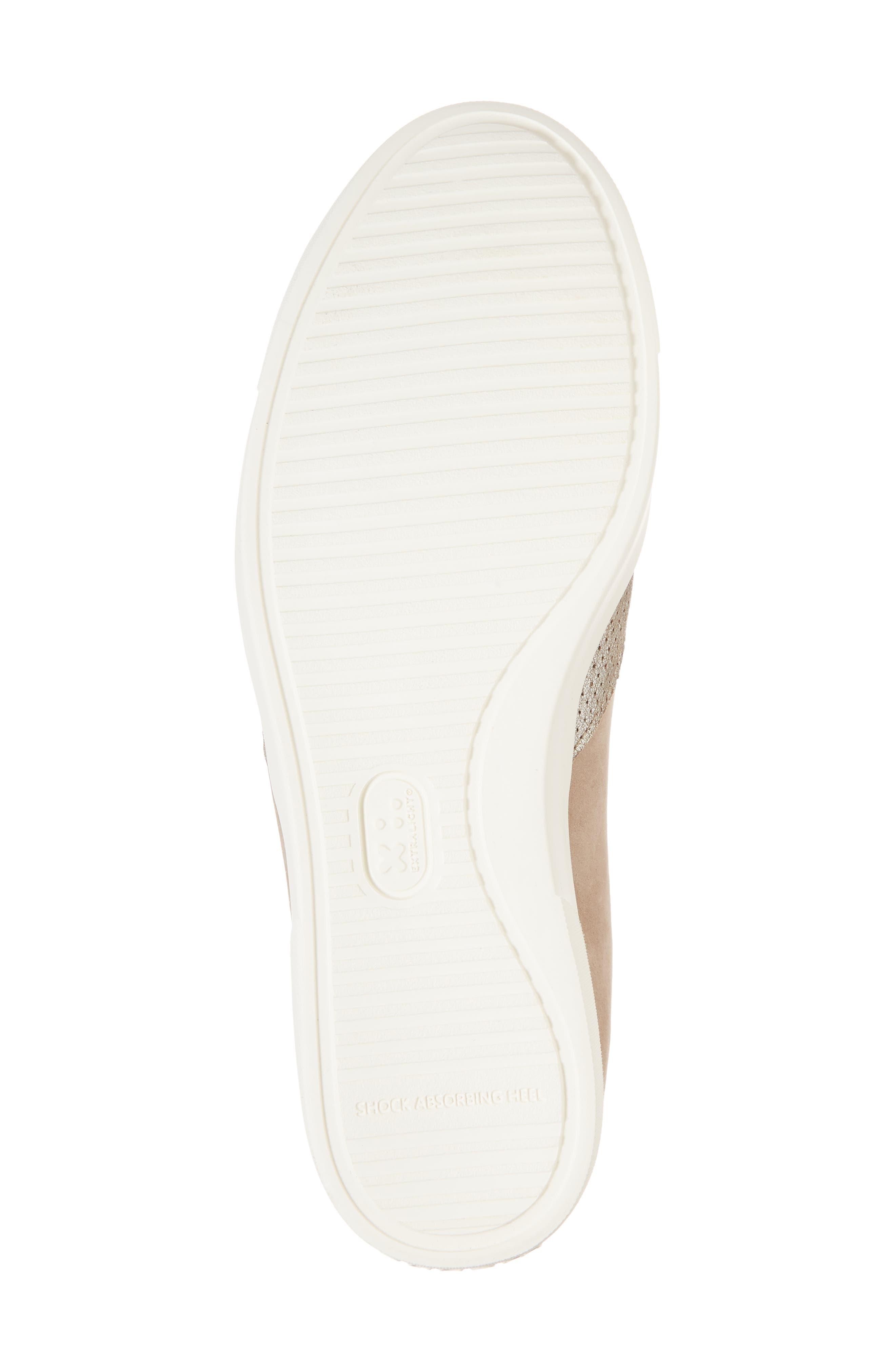 Lulu Slip-On Sneaker,                             Alternate thumbnail 6, color,                             BRUSHED SILVER NUBUCK
