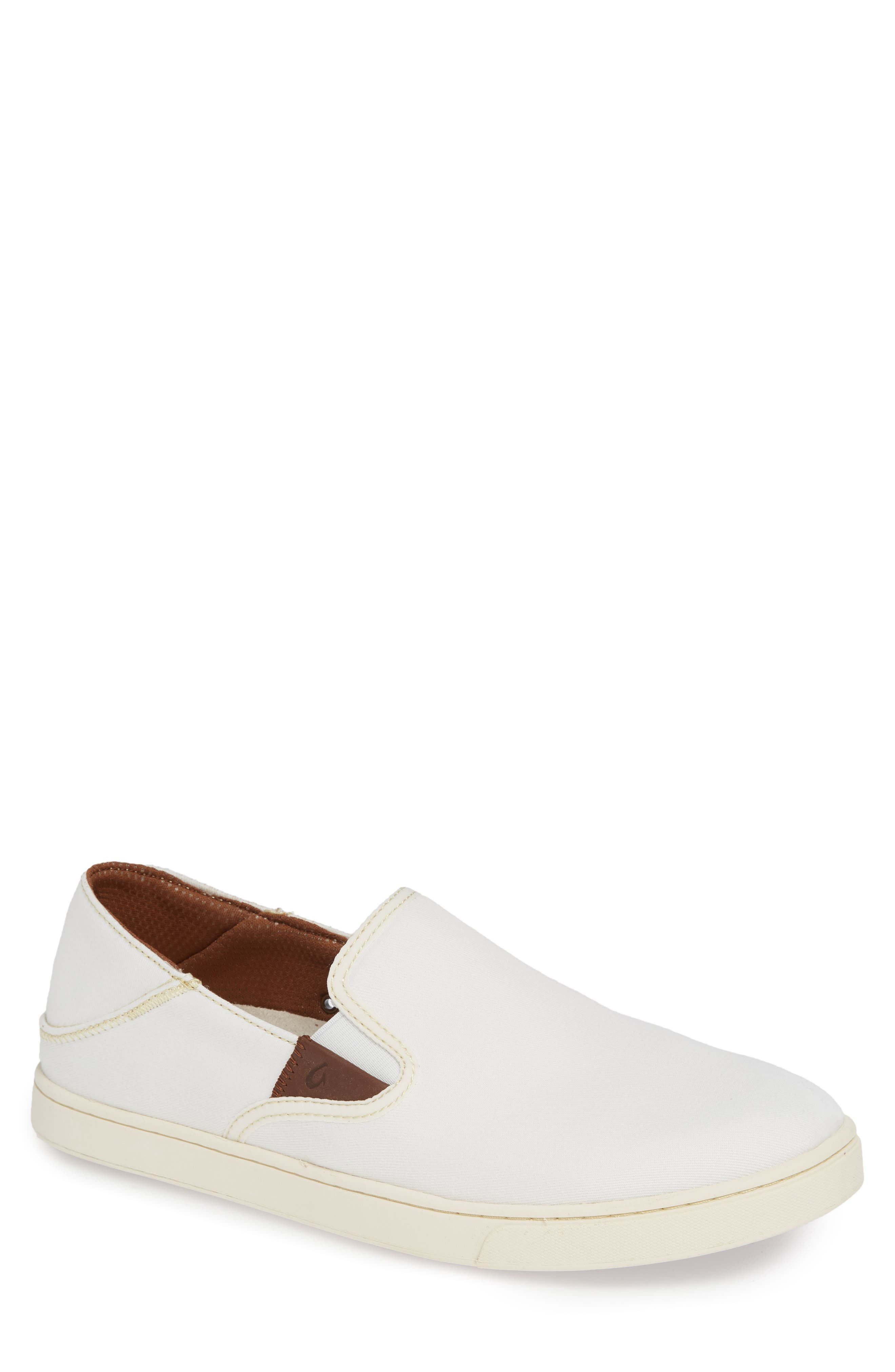 Kahu Collapsible Slip-On Sneaker,                             Main thumbnail 1, color,                             OFF WHITE/ OFF WHITE TEXTILE