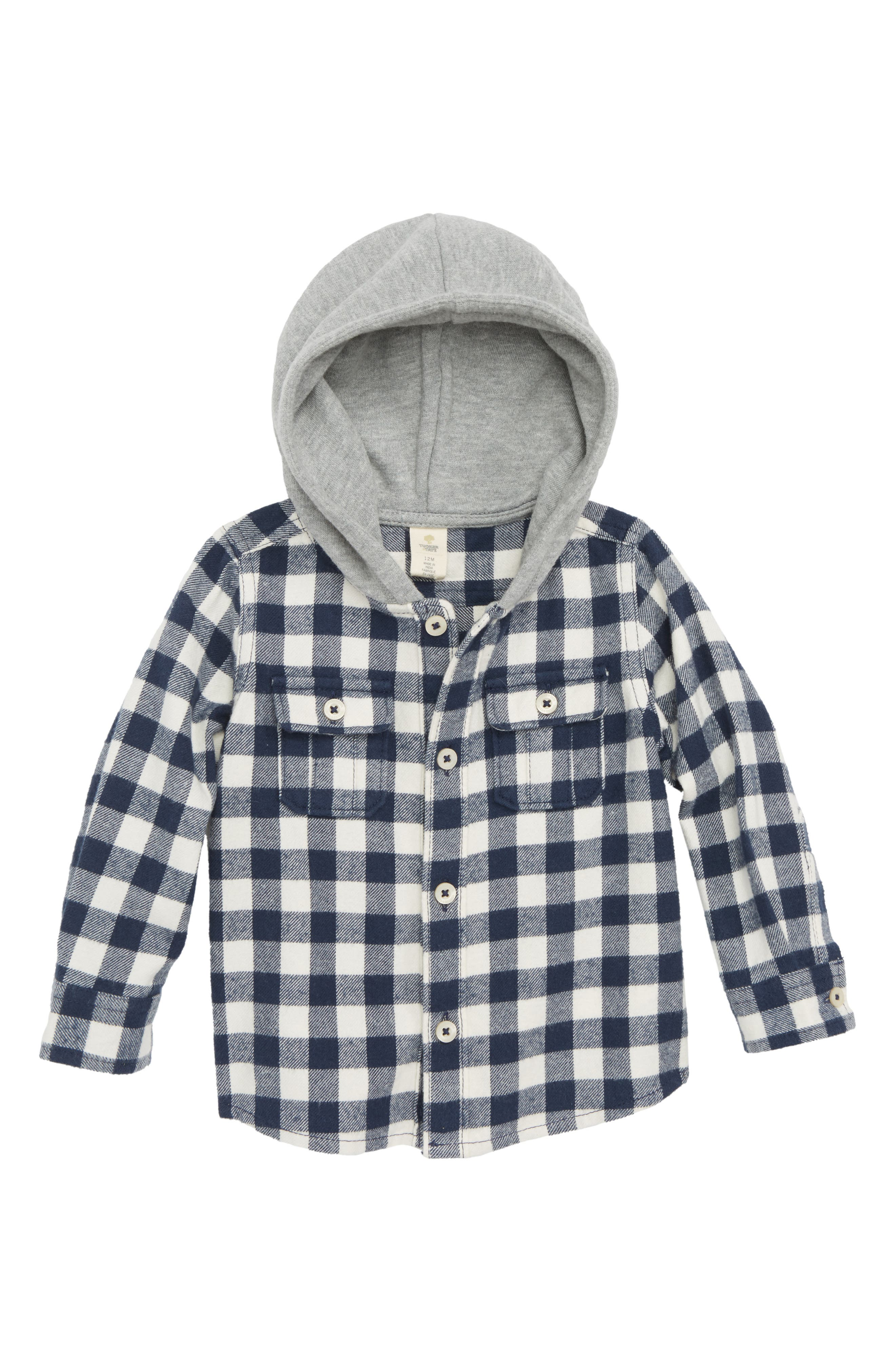 Plaid Hooded Flannel Shirt,                             Main thumbnail 1, color,                             410