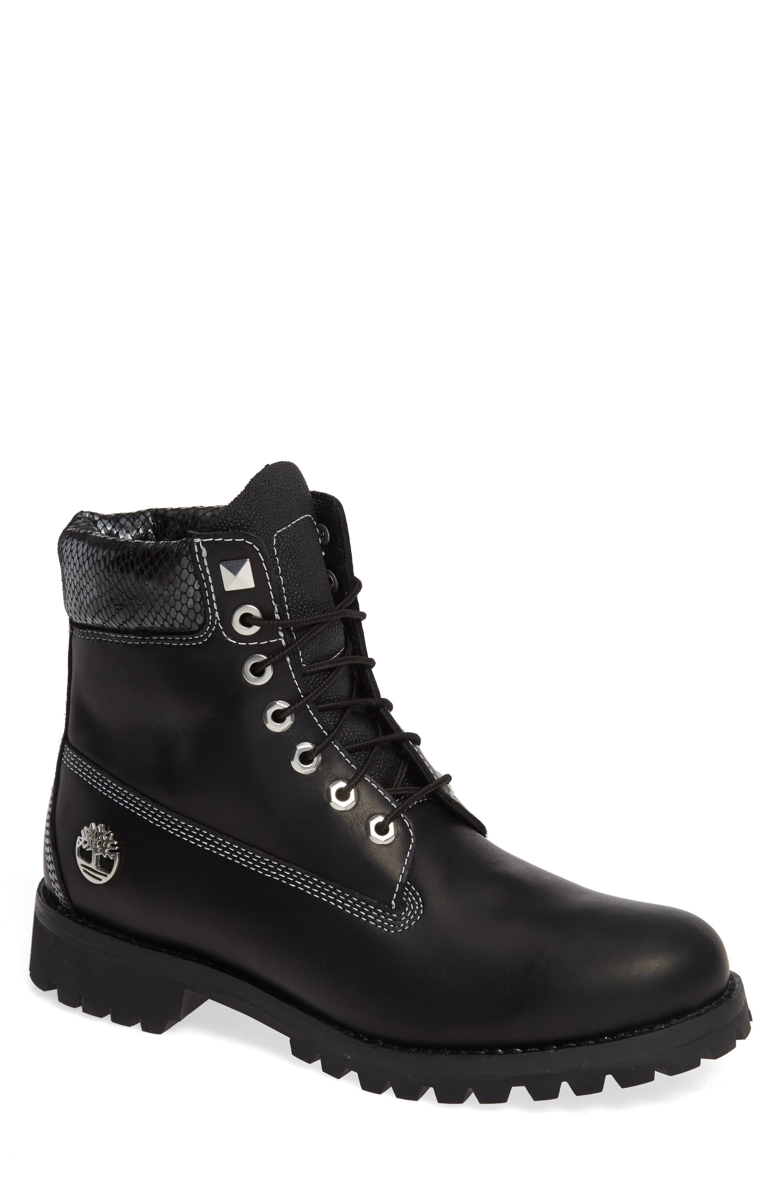 Social Scene Waterproof Boot,                         Main,                         color, STINGRAY BLACK