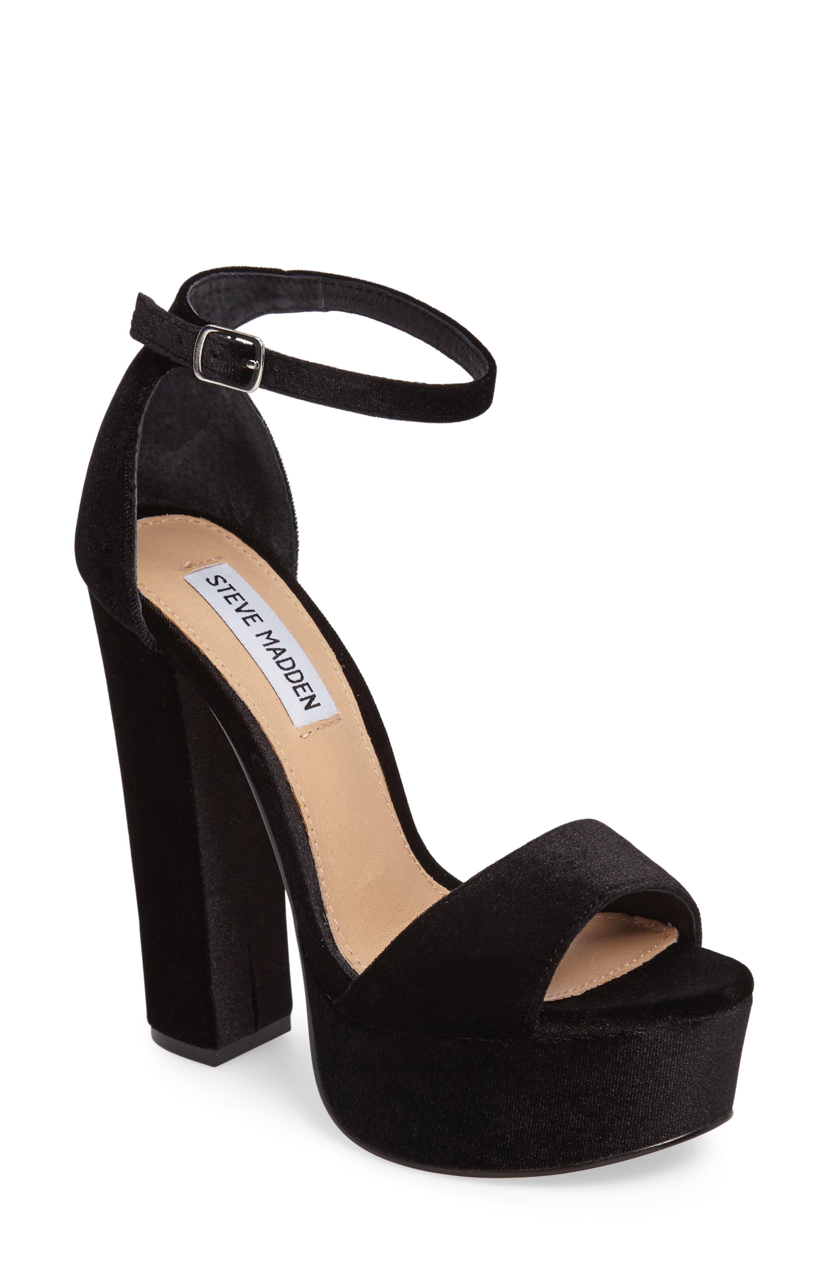 Gonzo Platform Sandal,                             Main thumbnail 1, color,                             001