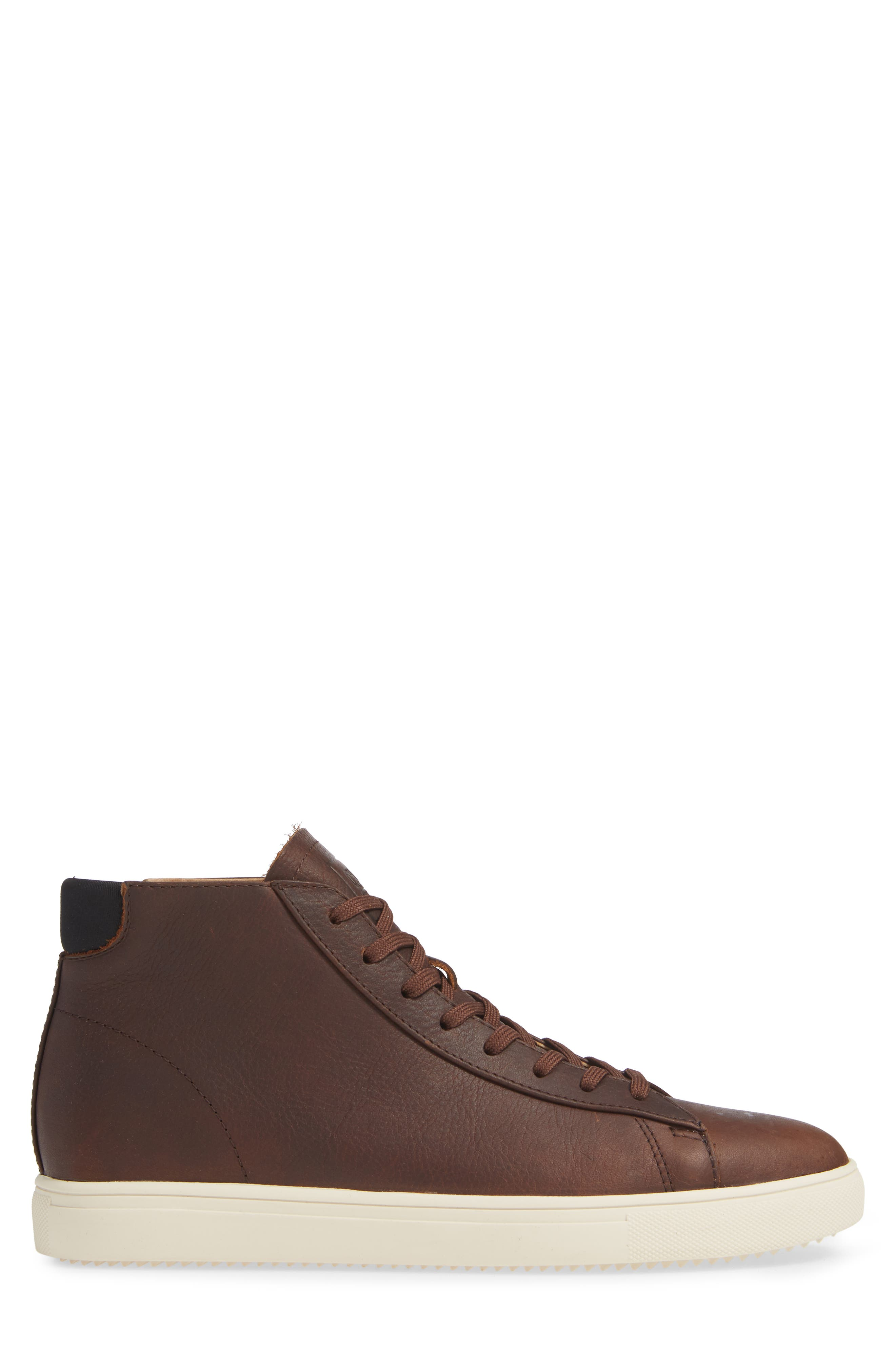 'Bradley Mid' Sneaker,                             Alternate thumbnail 3, color,                             COCOA LEATHER