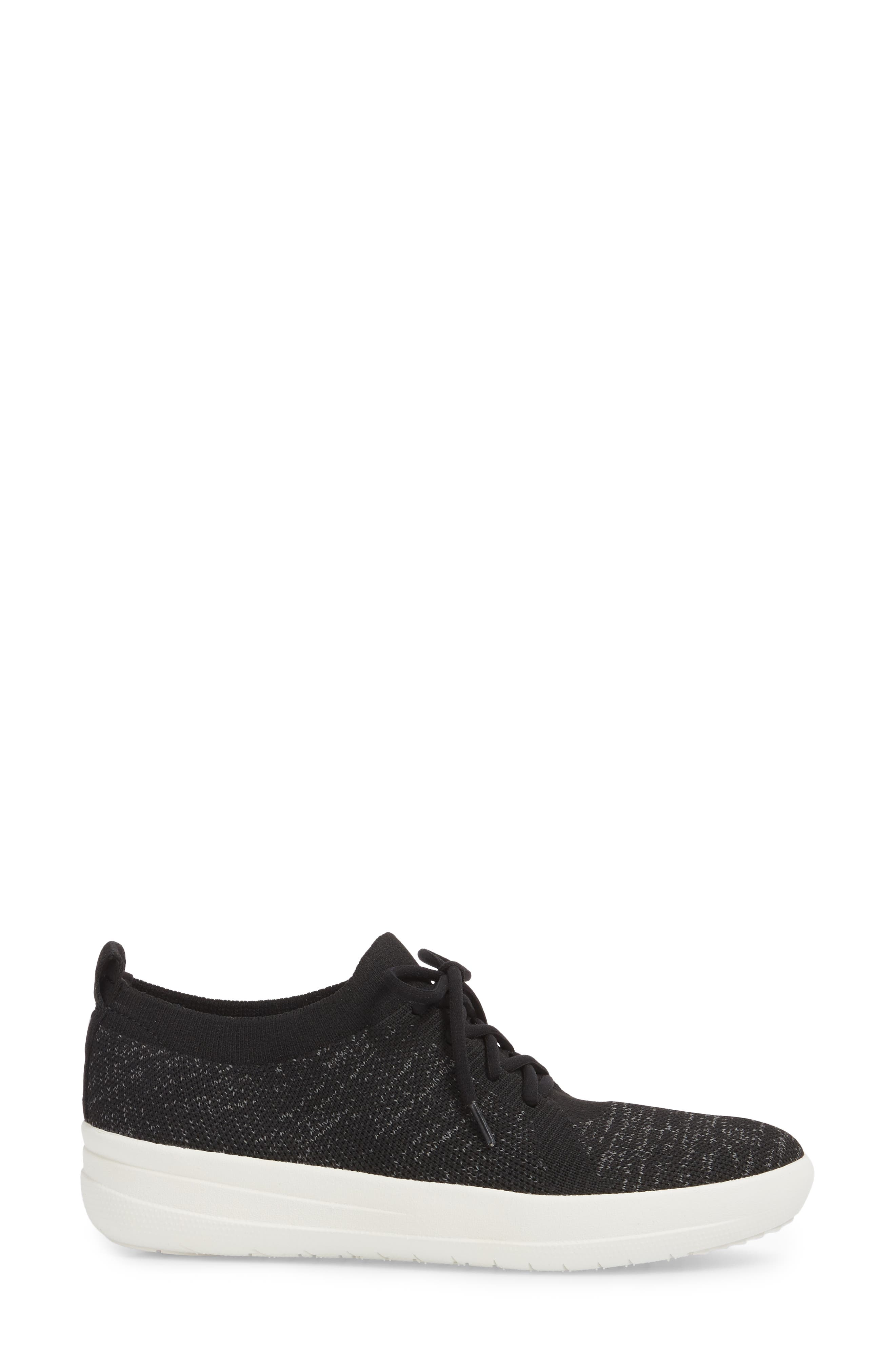 FITFLOP,                             F-Sporty Uberknit<sup>™</sup> Sneaker,                             Alternate thumbnail 3, color,                             BLACK