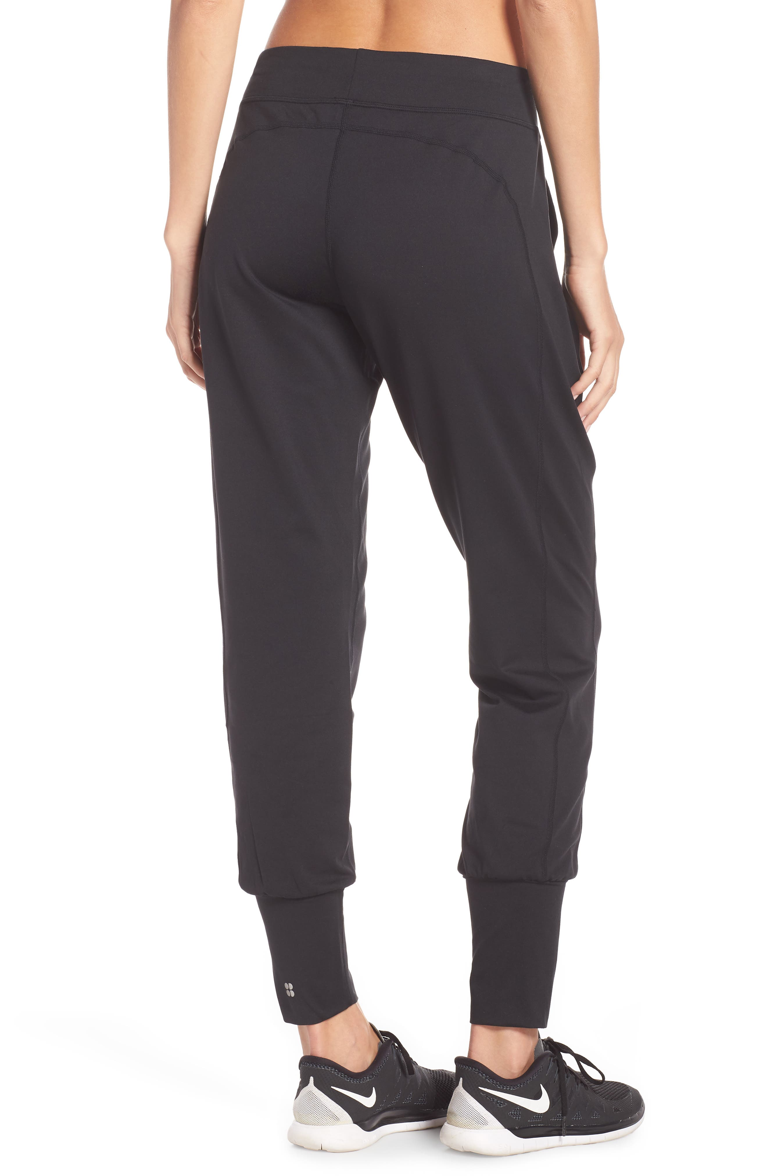 Garudasana Yoga Trousers,                             Alternate thumbnail 2, color,                             BLACK