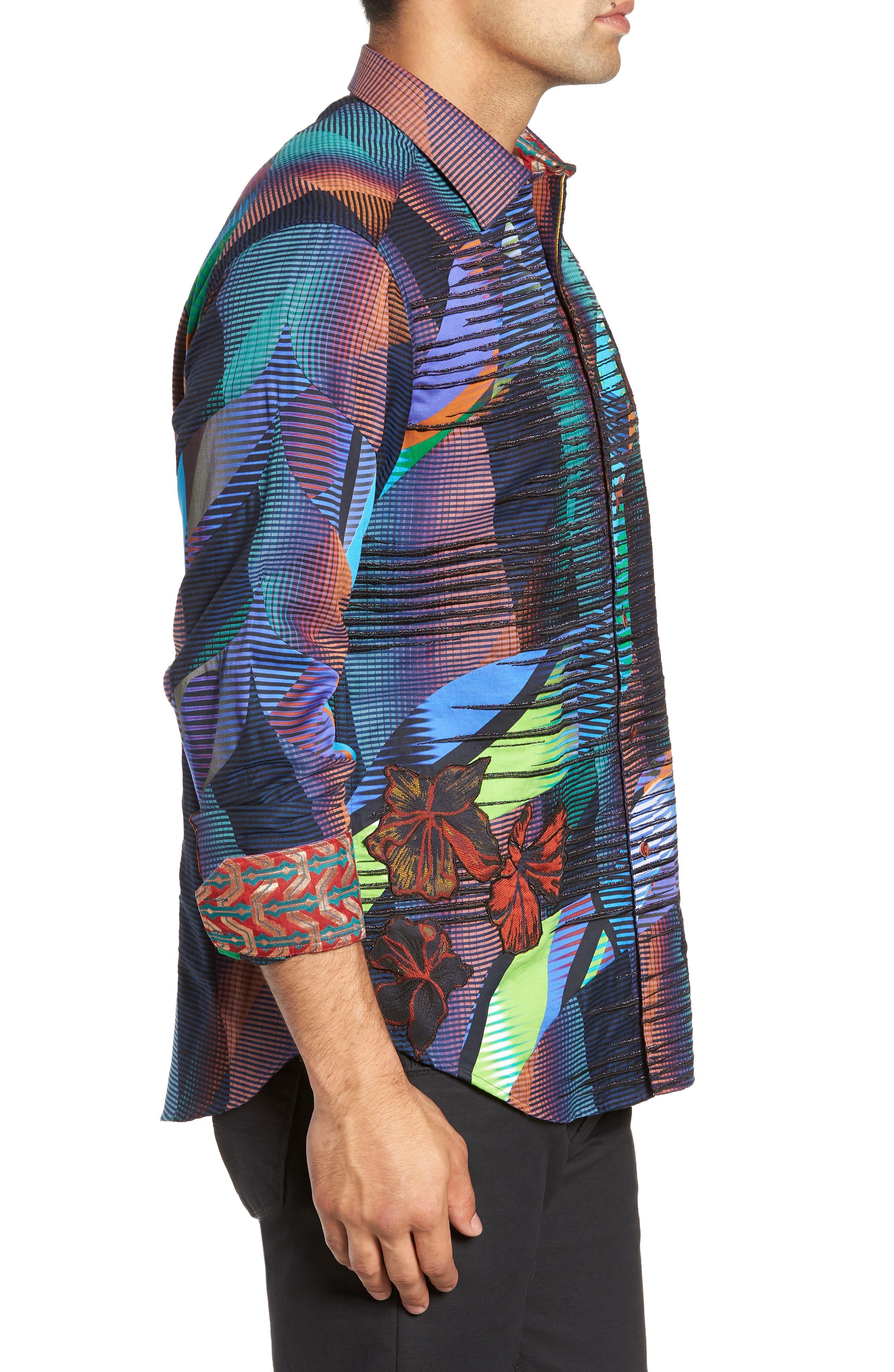 Canyon Flower Classic Fit Sport Shirt,                             Alternate thumbnail 4, color,                             MULTI