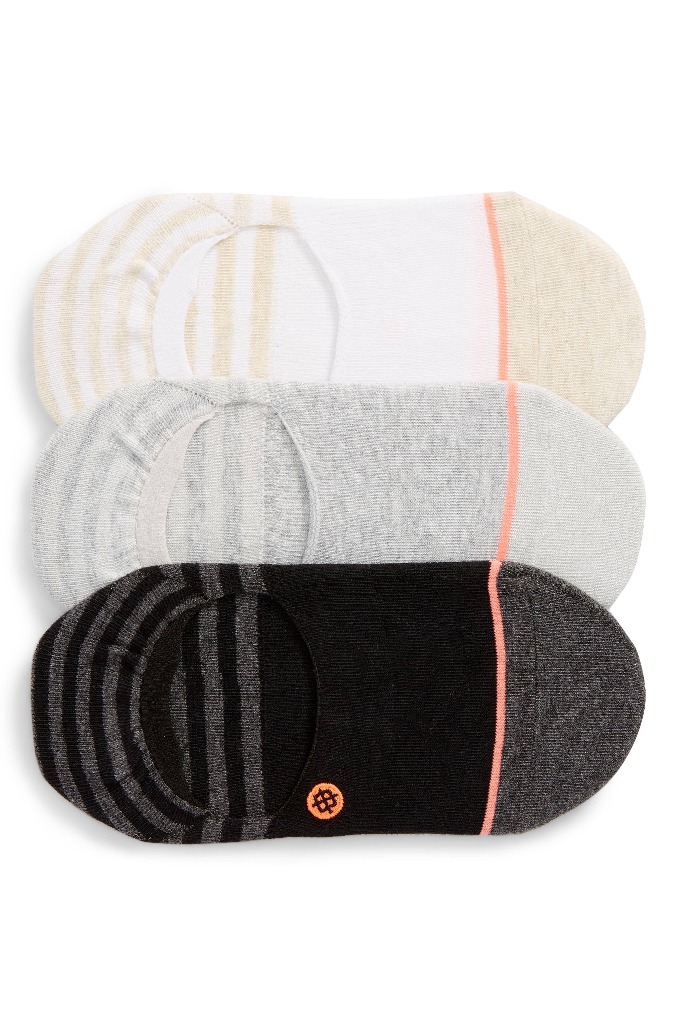 Invisible 3-Pack No-Show Socks,                             Main thumbnail 1, color,                             MULTI