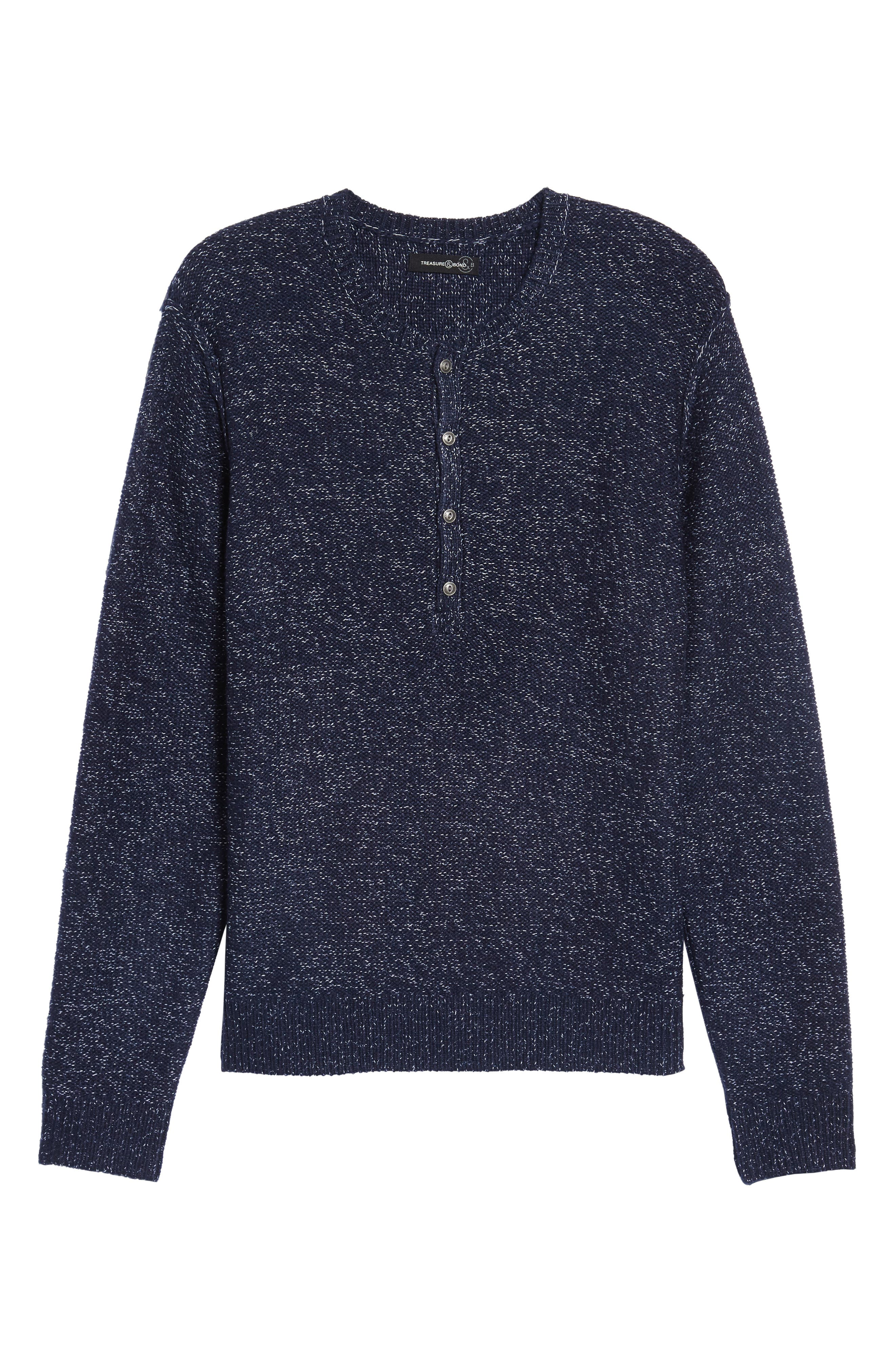 Marled Henley Sweater,                             Alternate thumbnail 6, color,                             410