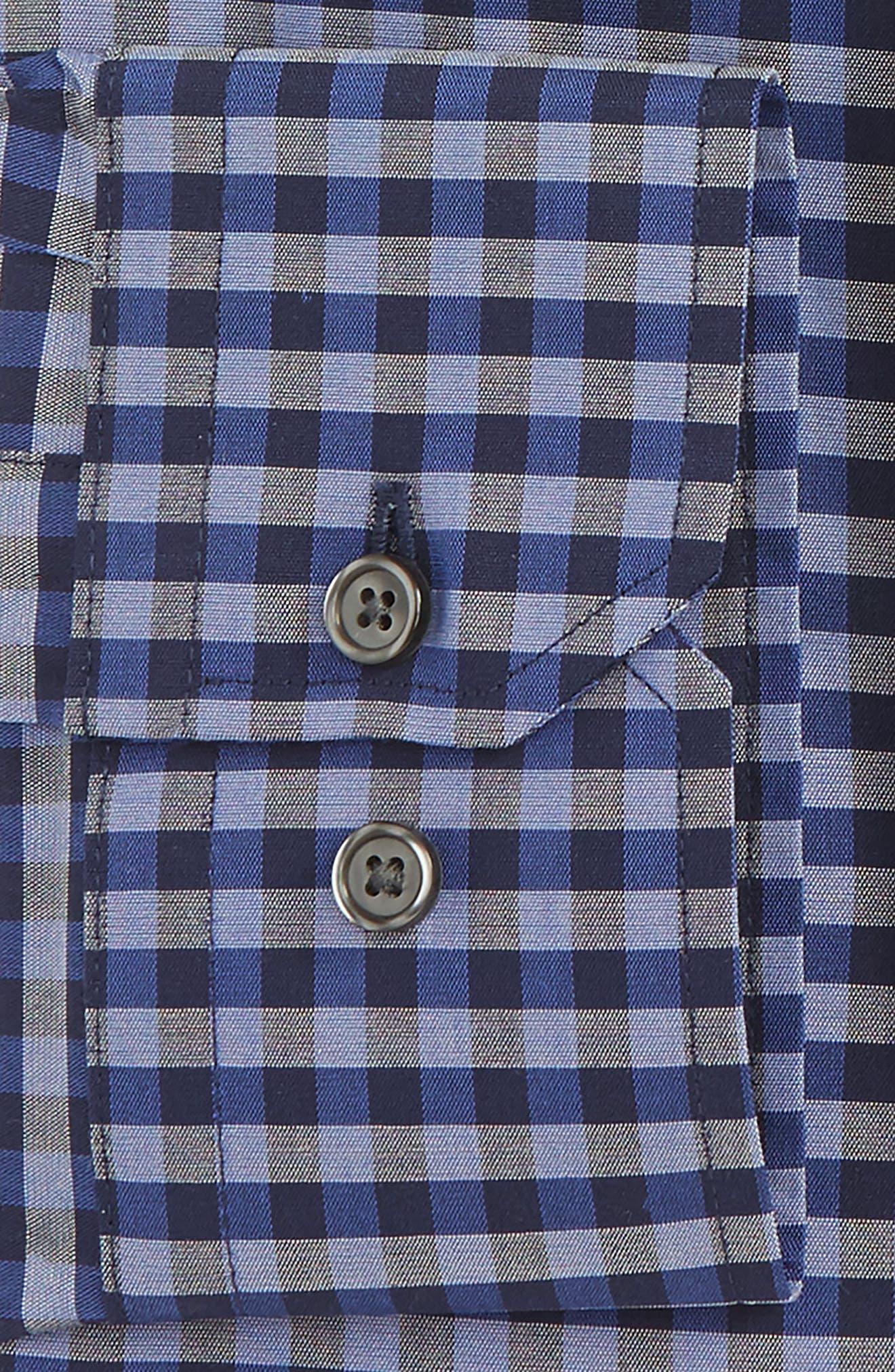 Trim Fit Stretch Non-Iron Check Dress Shirt,                             Alternate thumbnail 2, color,                             410