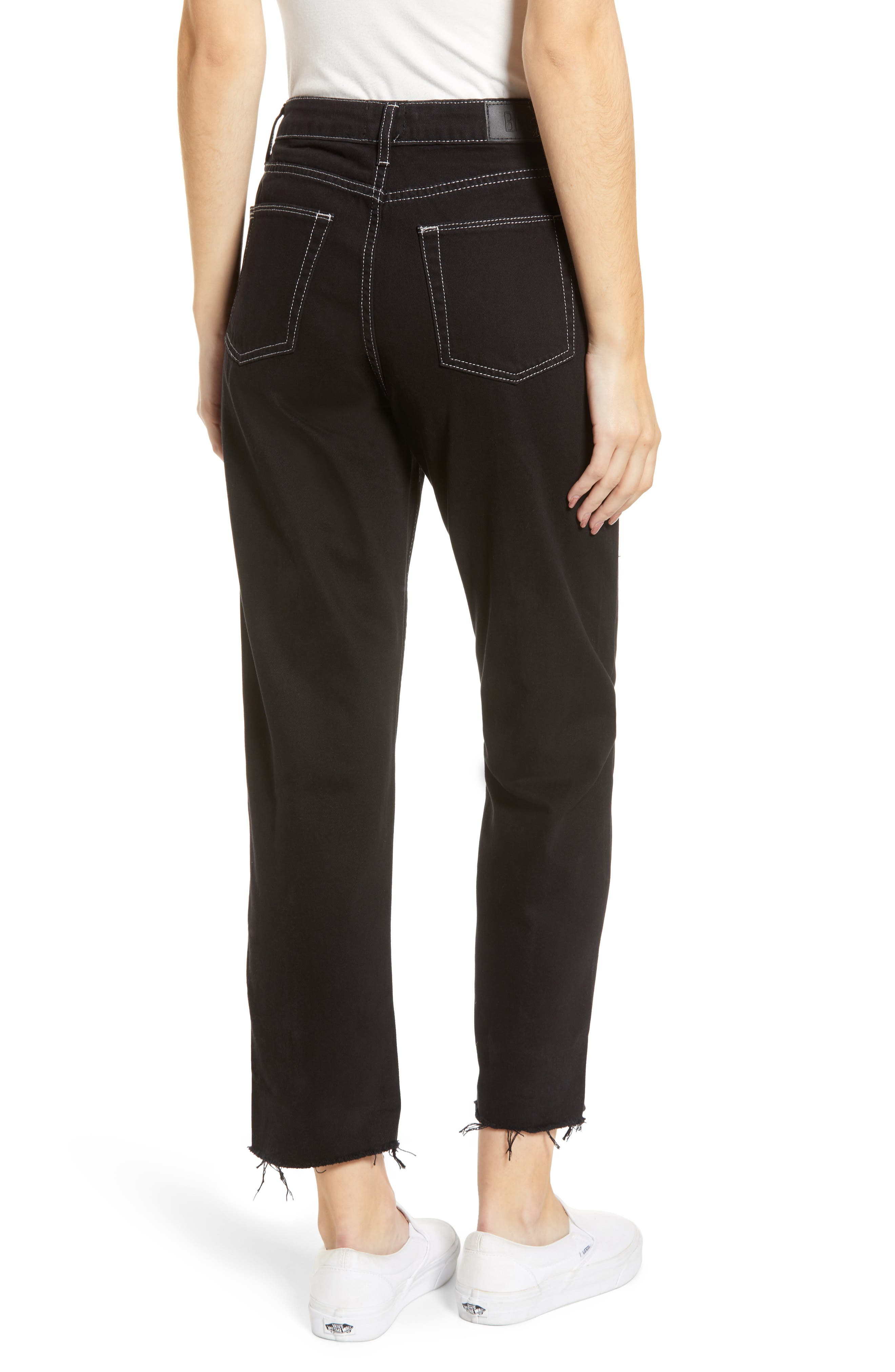 Urban Outfitters Pax High Waist Jeans,                             Alternate thumbnail 2, color,                             BLACK