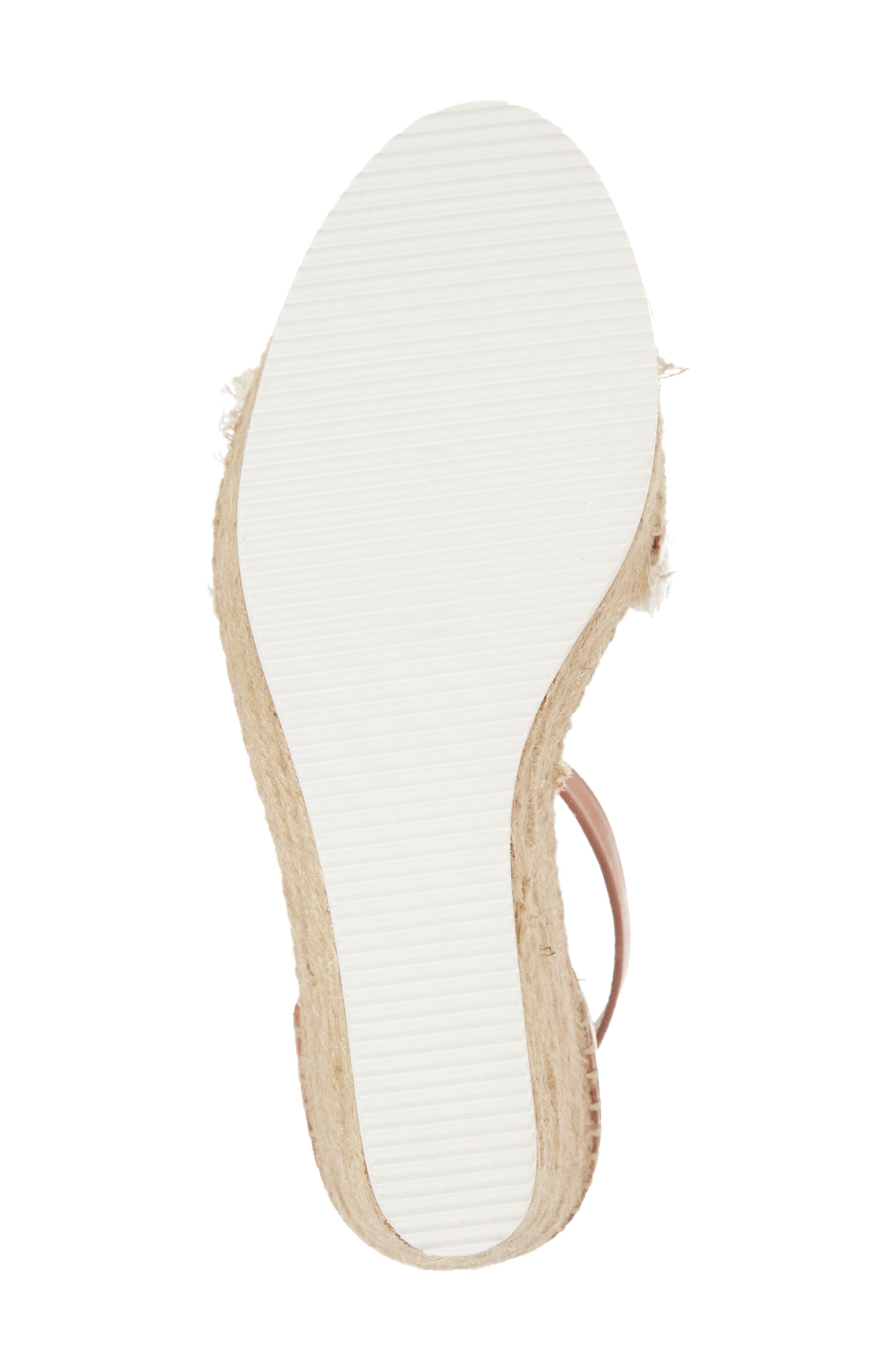 'Glyn' Espadrille Wedge Sandal,                             Alternate thumbnail 6, color,                             BIG CANVAS
