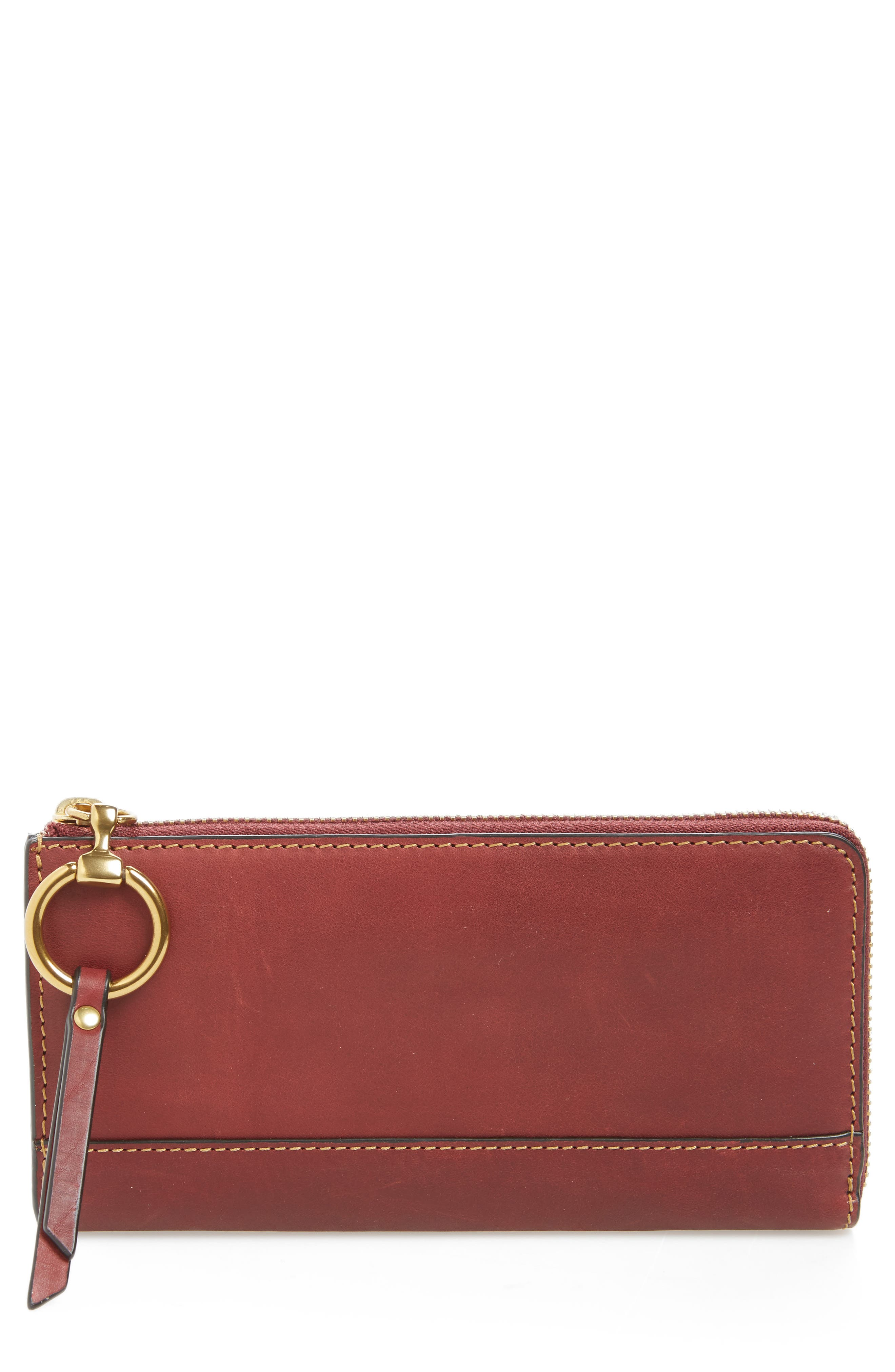 Large Ilana Harness Leather Zip Wallet,                             Main thumbnail 2, color,