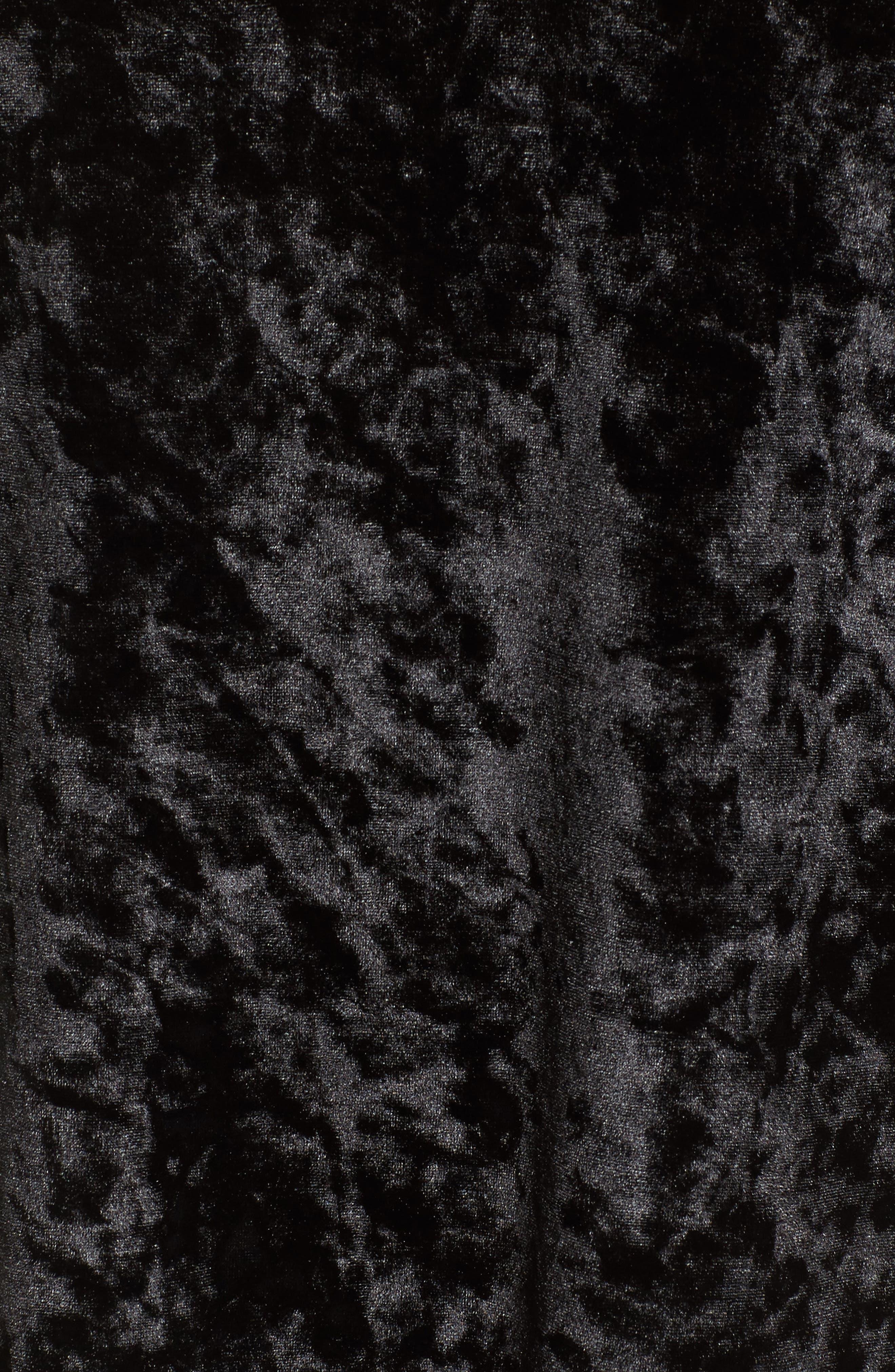 Keyhole Velvet Top,                             Alternate thumbnail 5, color,                             001