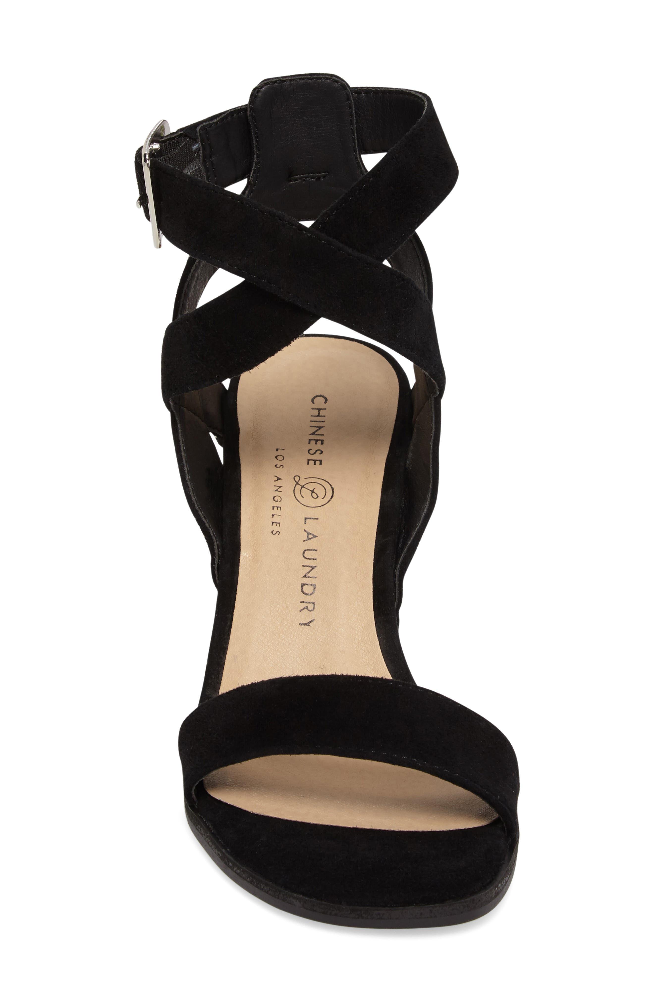 Sitara Ankle Strap Sandal,                             Alternate thumbnail 4, color,                             001
