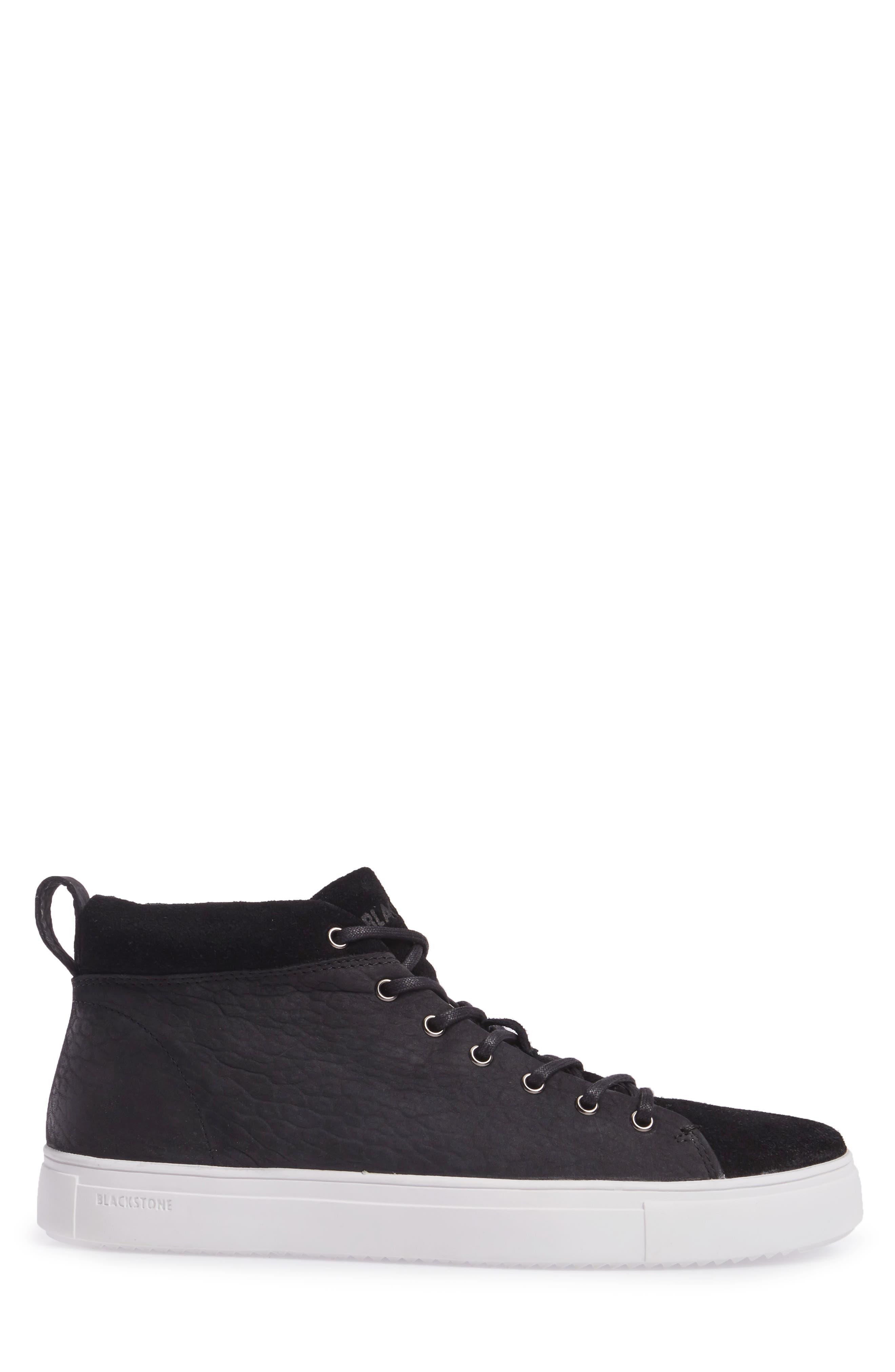 OM 56 Sneaker,                             Alternate thumbnail 3, color,                             BLACK LEATHER