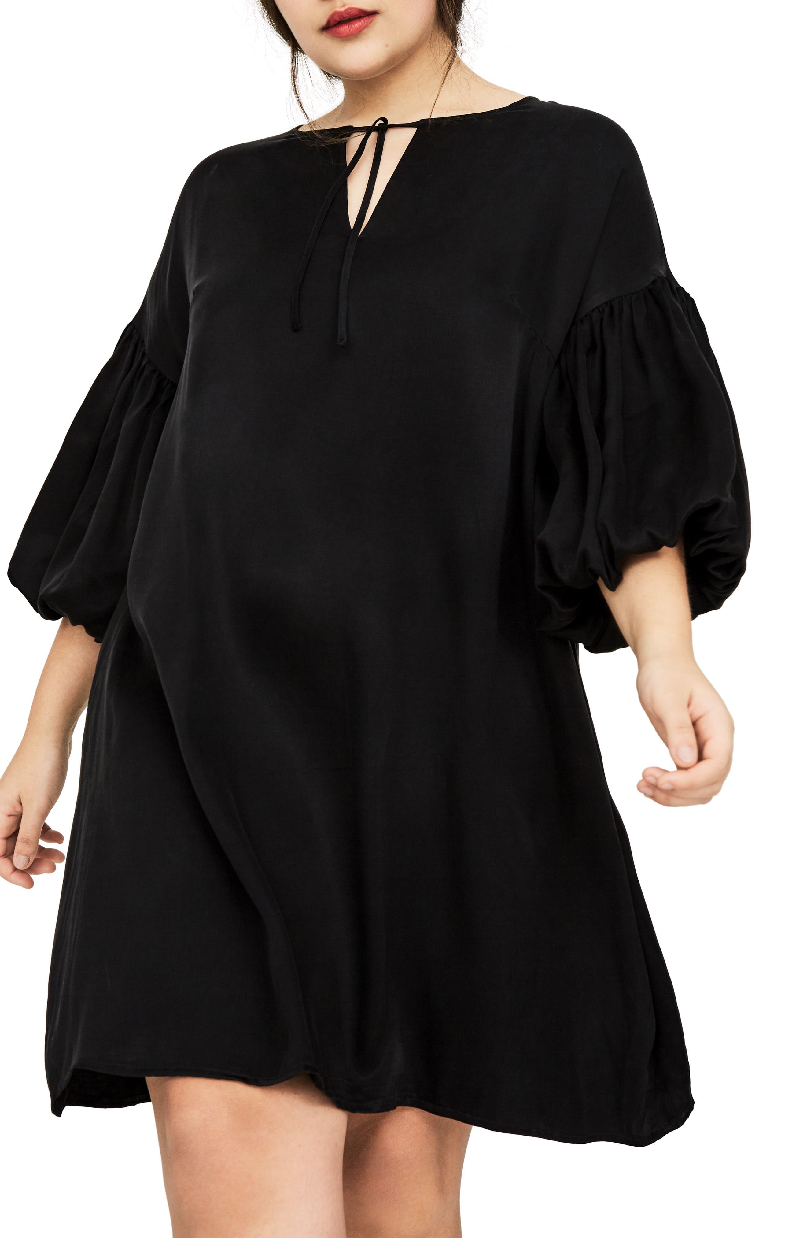 The Vedere Silk Swing Dress,                             Alternate thumbnail 4, color,                             001