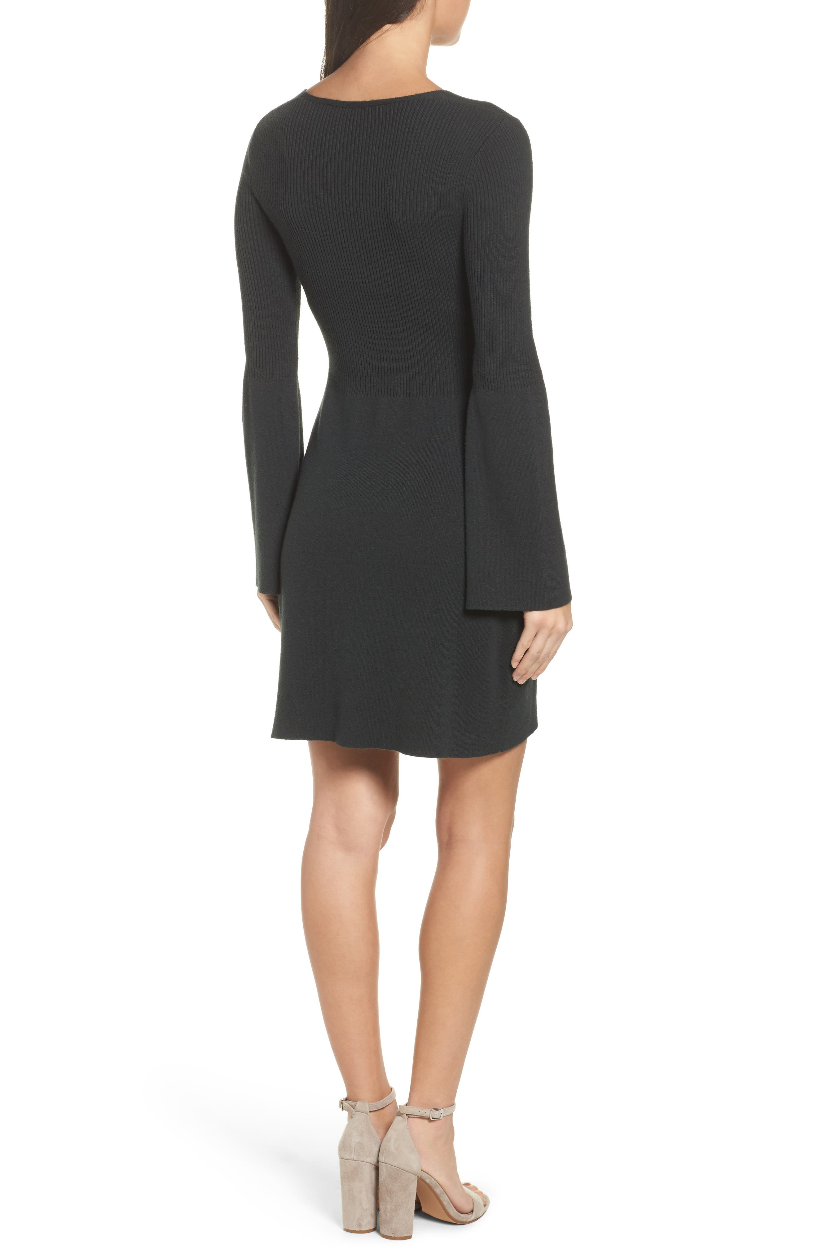 Virgie Knits Bell Sleeve Dress,                             Alternate thumbnail 2, color,