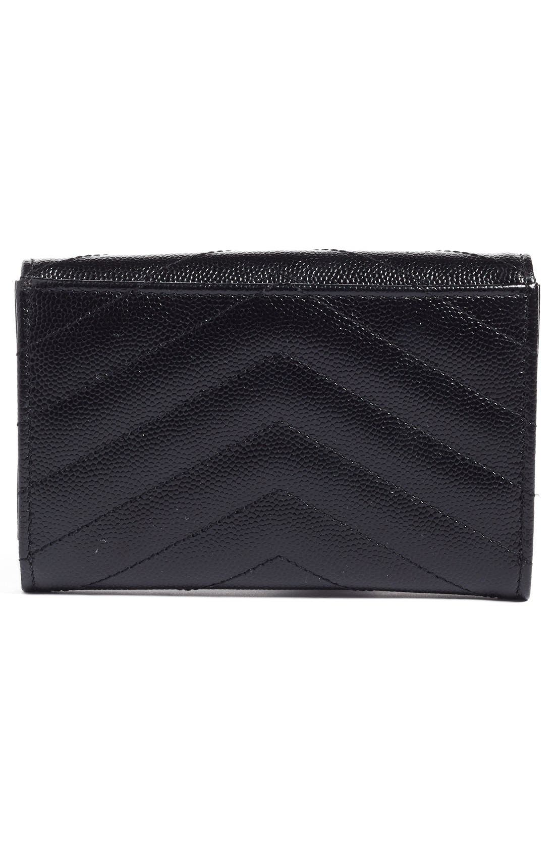 'Small Monogram' Leather French Wallet,                             Alternate thumbnail 30, color,