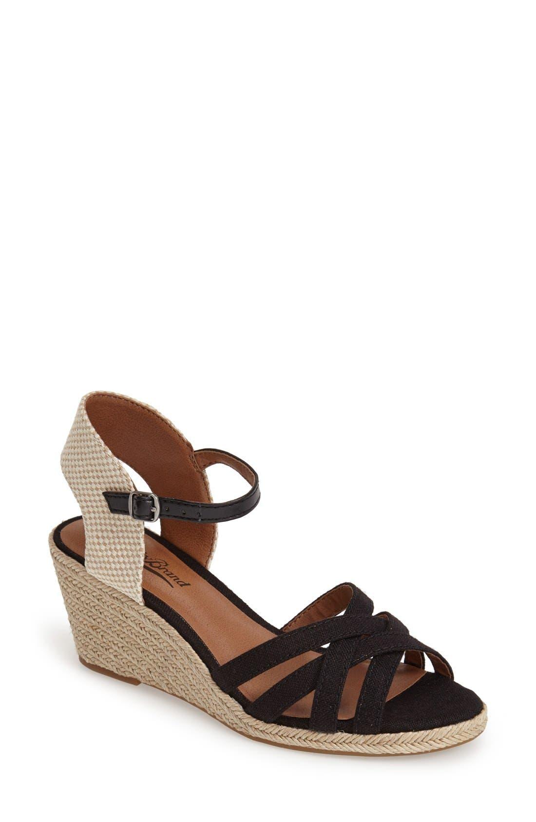 'Kalessie' Espadrille Wedge Sandal,                             Main thumbnail 1, color,                             001
