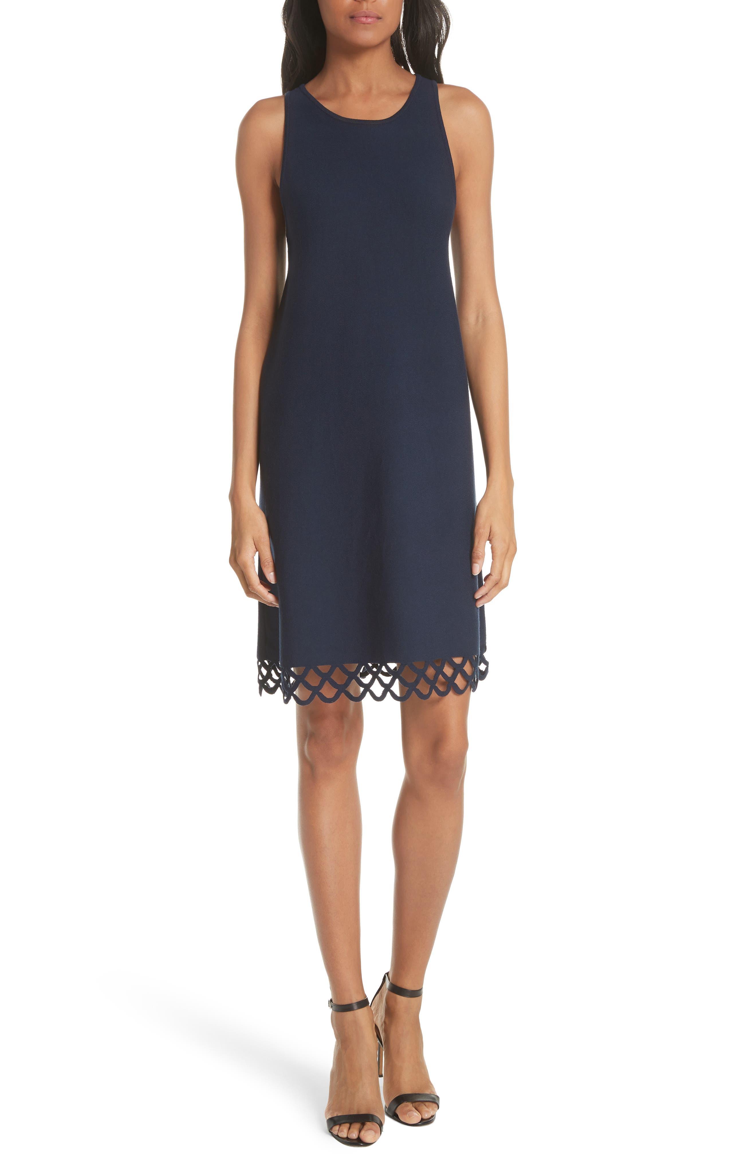Scallop Hem Shift Dress,                         Main,                         color, 410