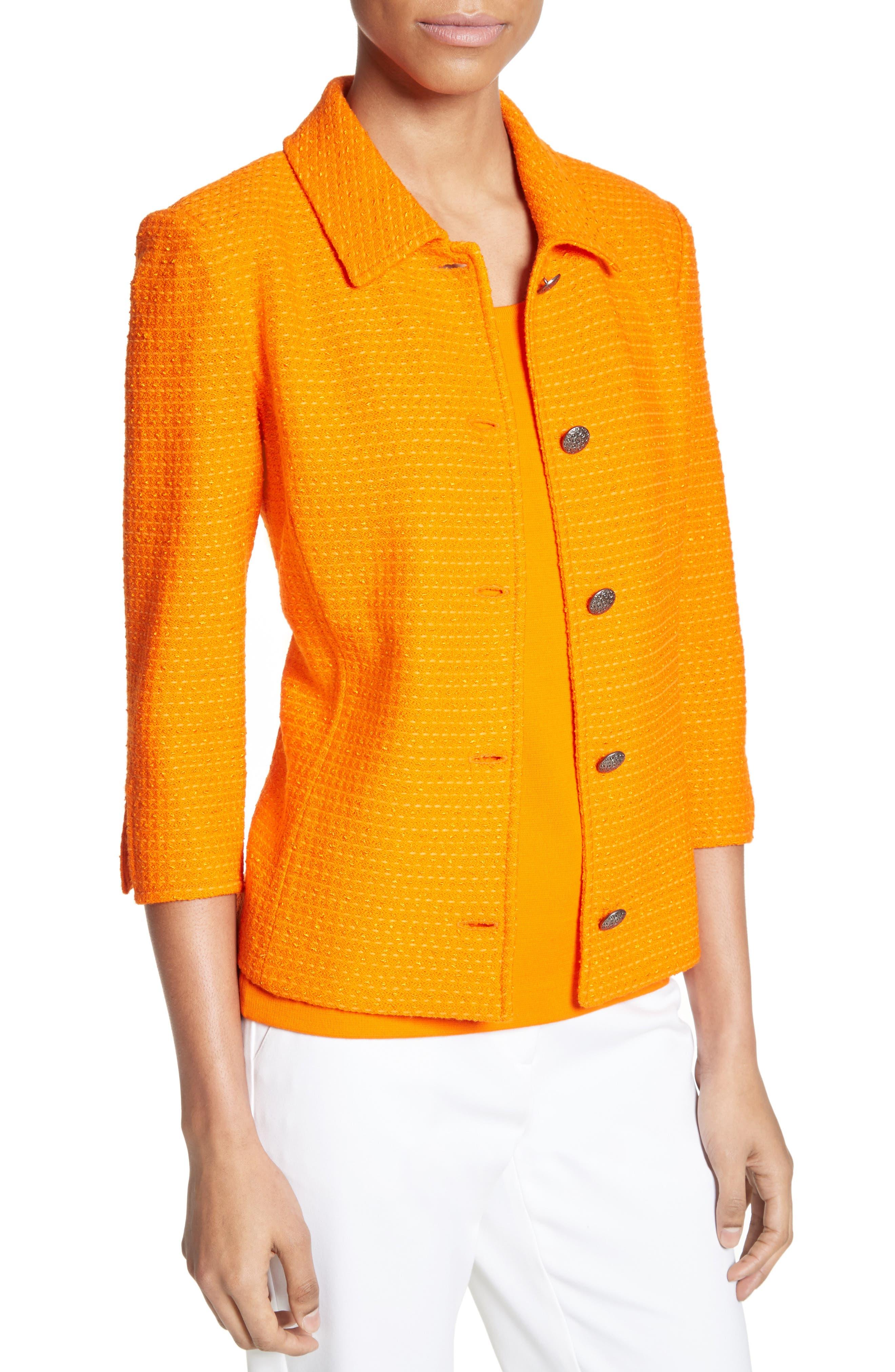 Ribbon Texture Knit Jacket,                             Alternate thumbnail 4, color,                             820