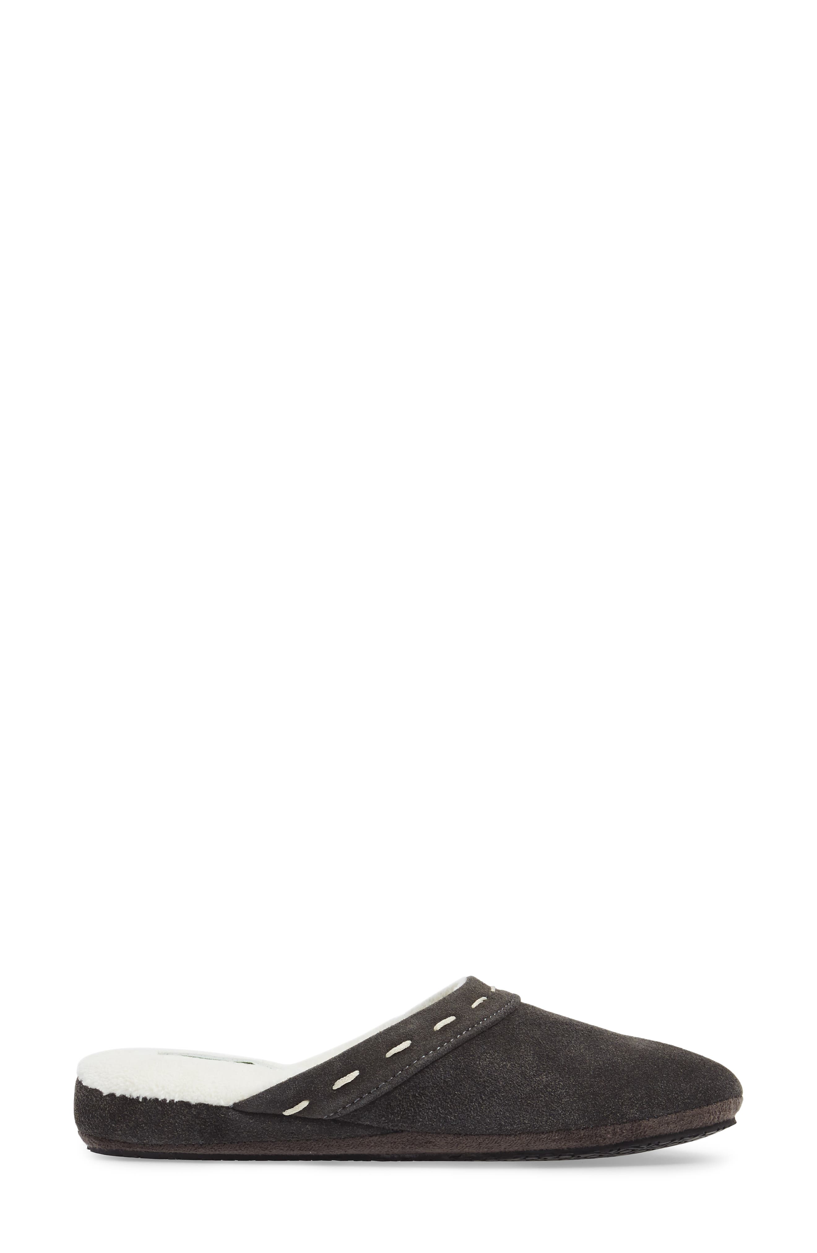 Mayfair Wedge Slipper,                             Alternate thumbnail 3, color,                             CHARCOAL SUEDE
