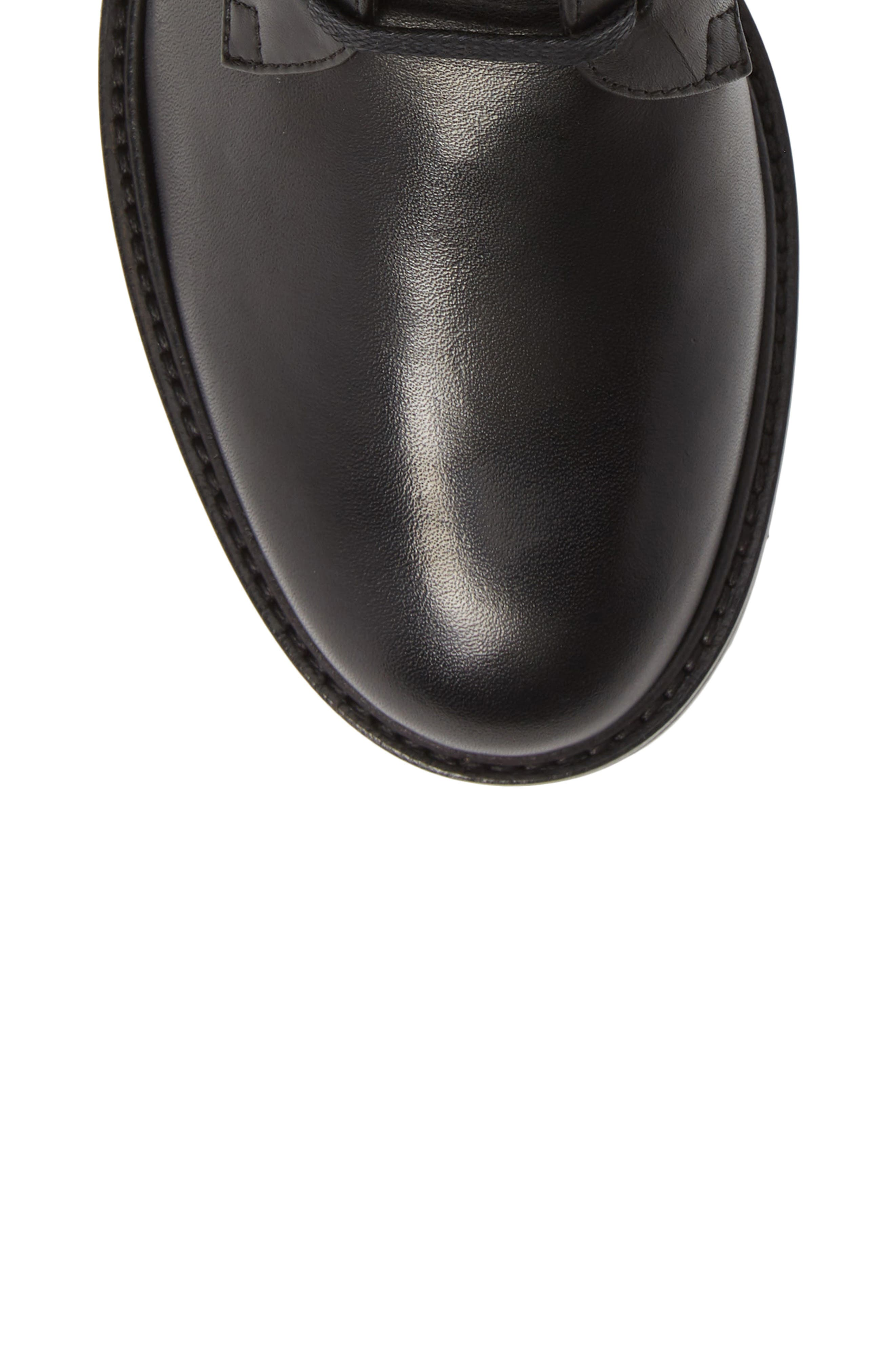 Leora Boot,                             Alternate thumbnail 5, color,                             BLACK LEATHER