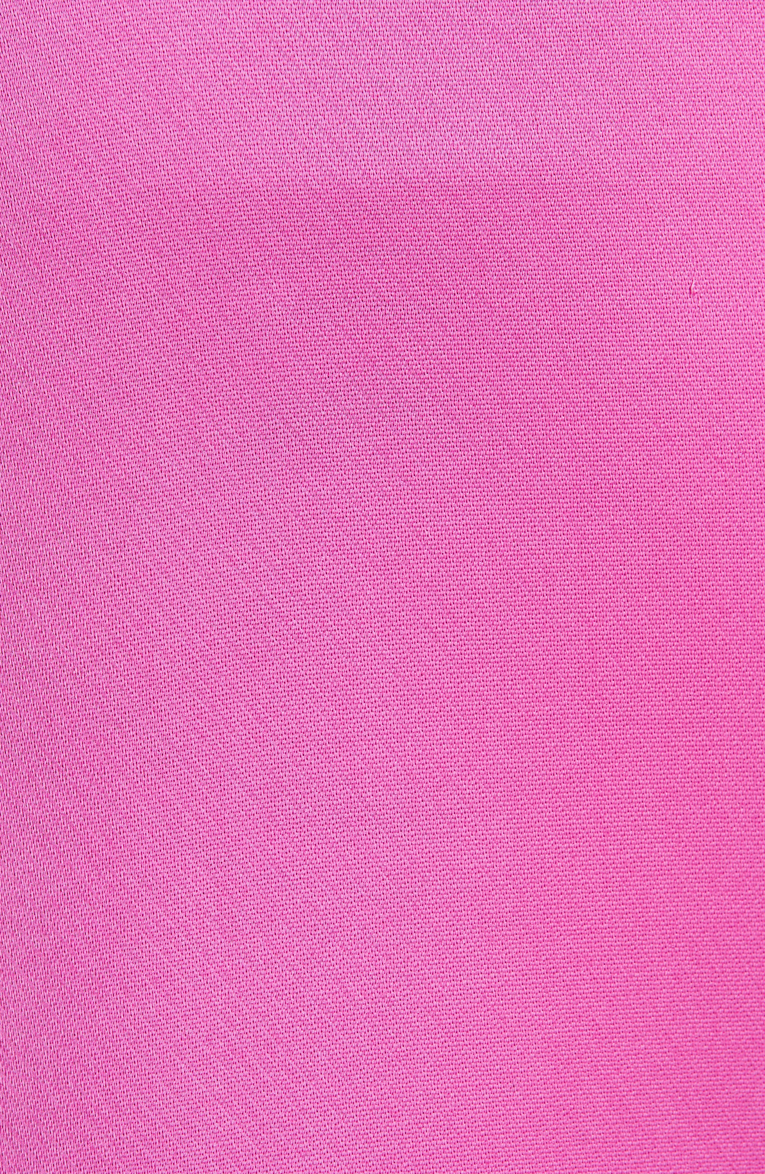High Waist Satin Twill Pants,                             Alternate thumbnail 5, color,                             HOT PINK