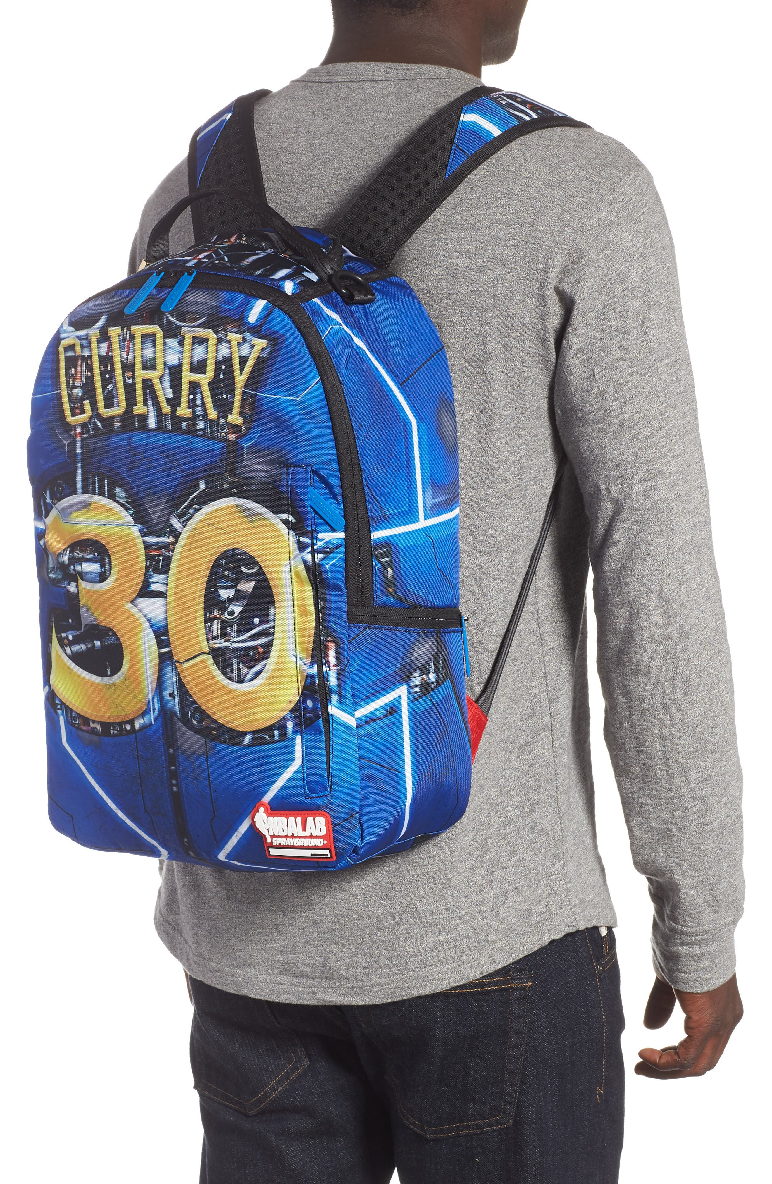 SPRAYGROUND,                             Curry Elysium Backpack,                             Alternate thumbnail 2, color,                             BLUE