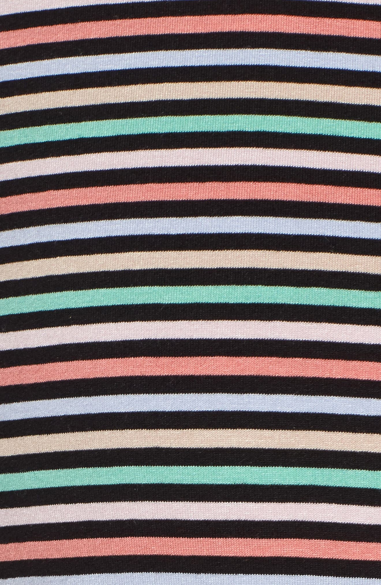 Tie Front Maternity Dress,                             Alternate thumbnail 6, color,                             CANDY STRIPES