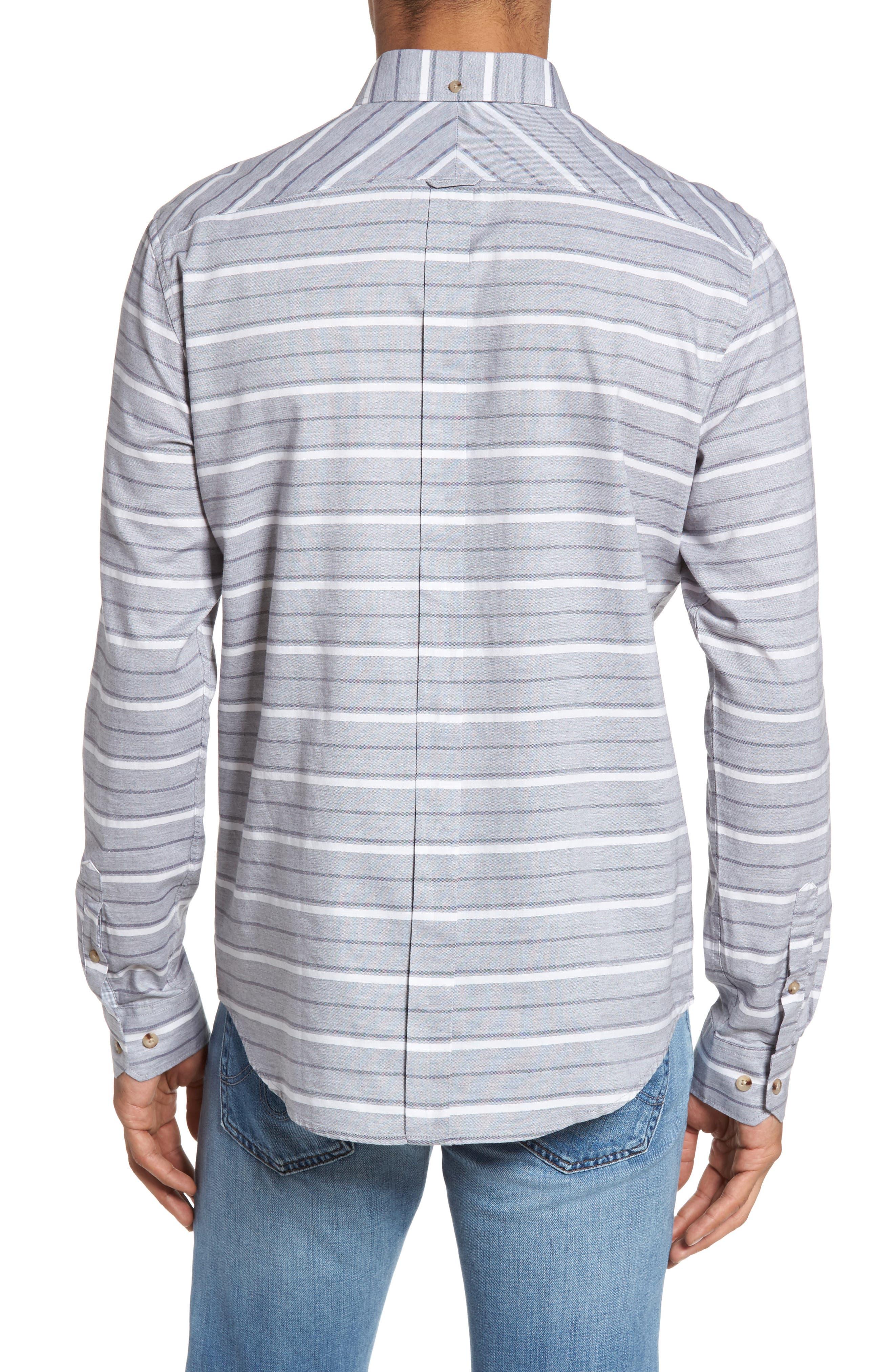 Tipping Horizontal Stripe Shirt,                             Alternate thumbnail 2, color,                             020