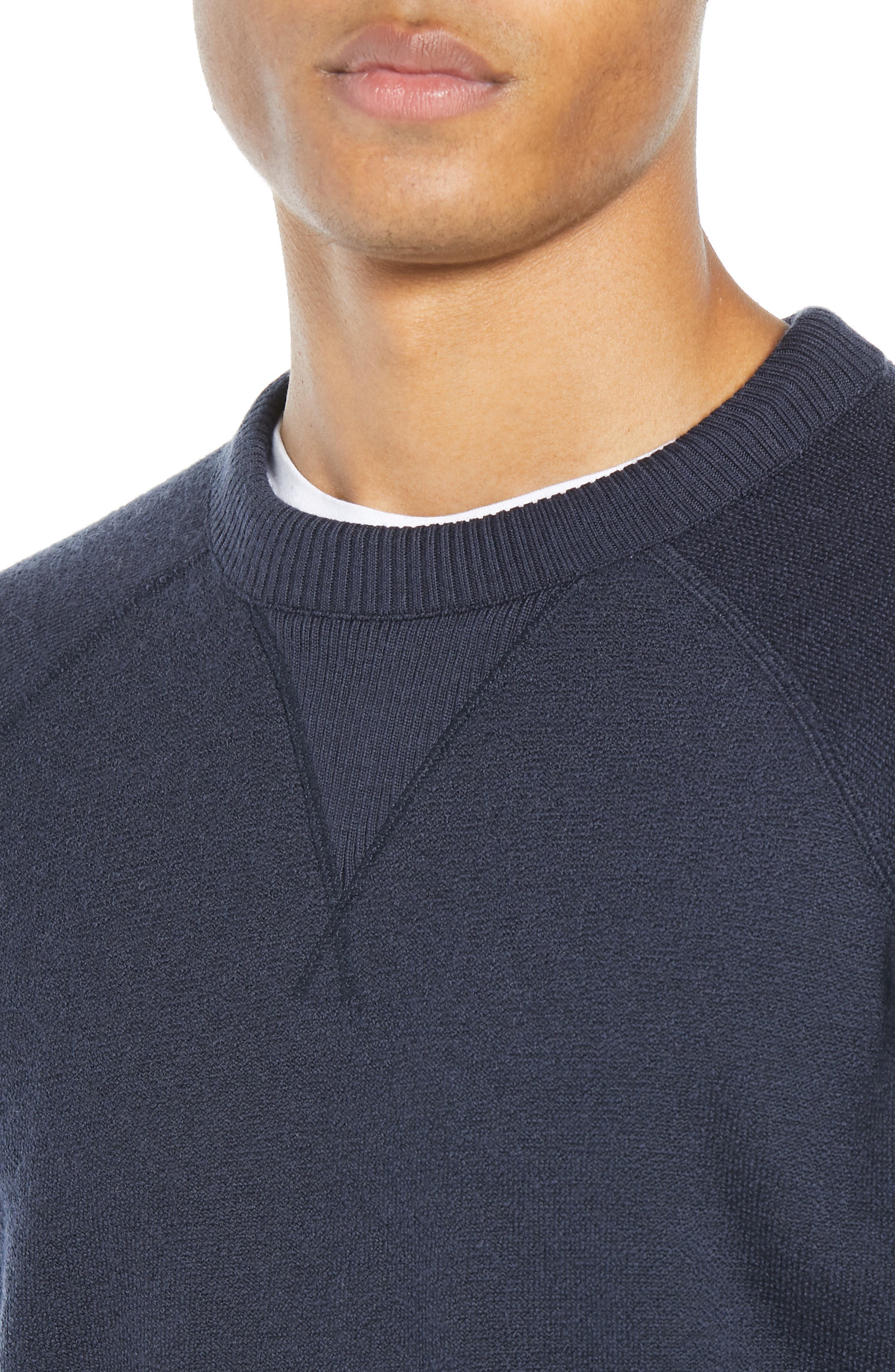 The Merino Wool Fleece Crew Sweatshirt,                             Alternate thumbnail 5, color,                             NAVY
